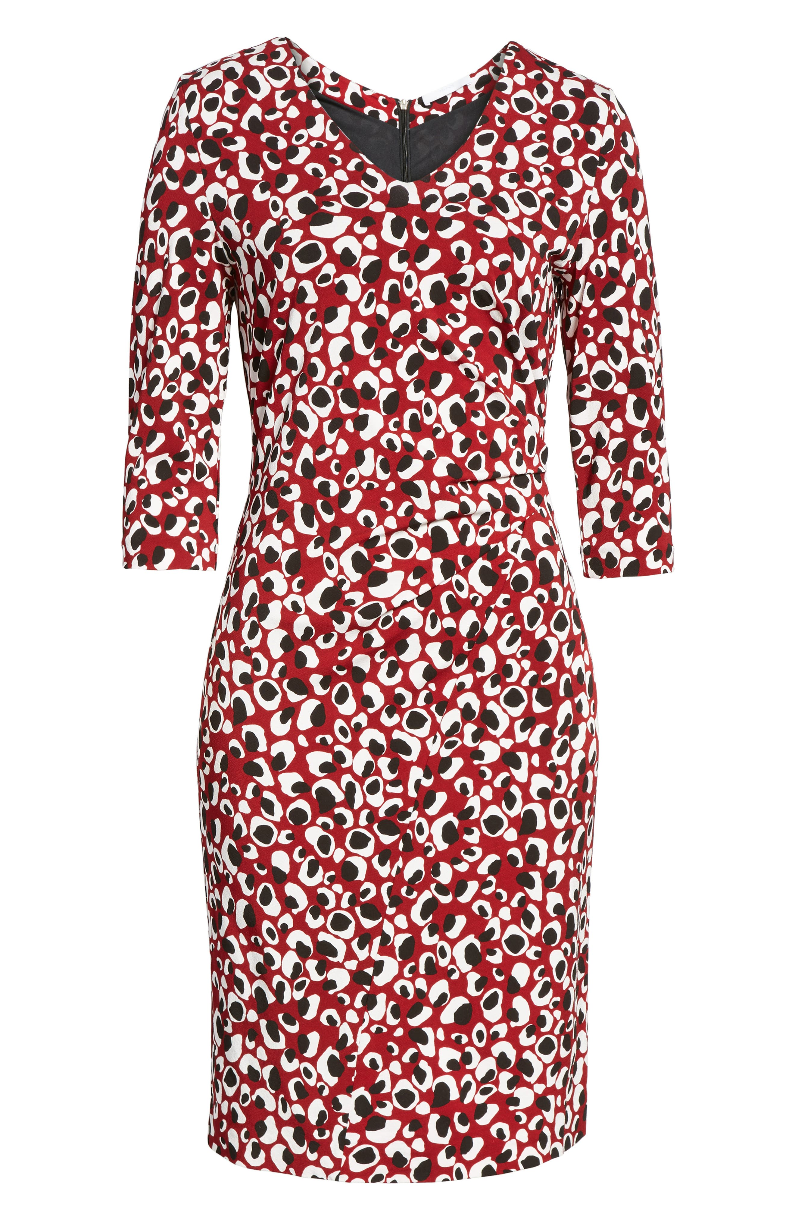 Epona Print Crepe Sheath Dress,                             Alternate thumbnail 6, color,                             603