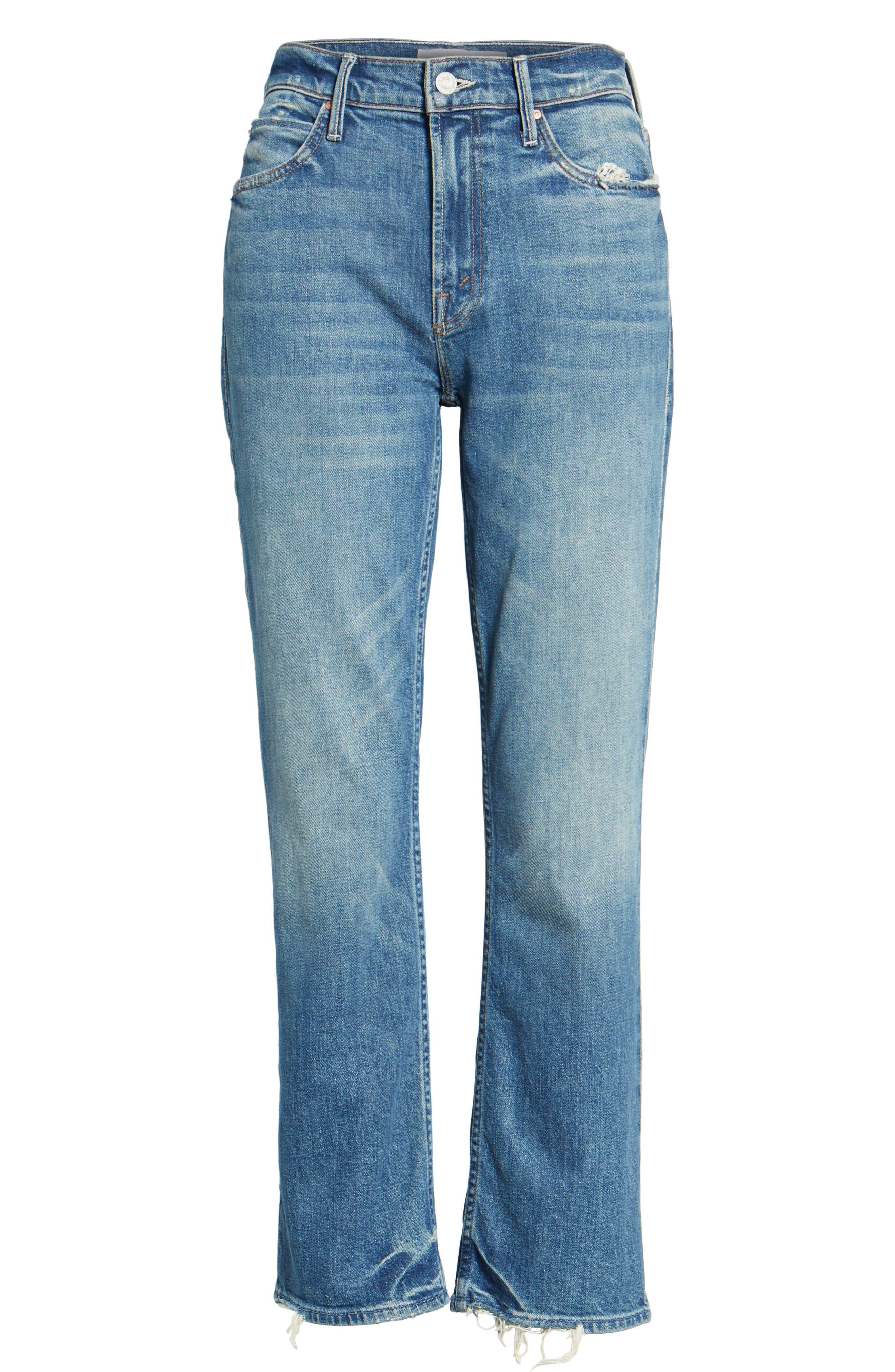 The Dutchie Crop Straight Leg Jeans,                             Alternate thumbnail 6, color,                             413