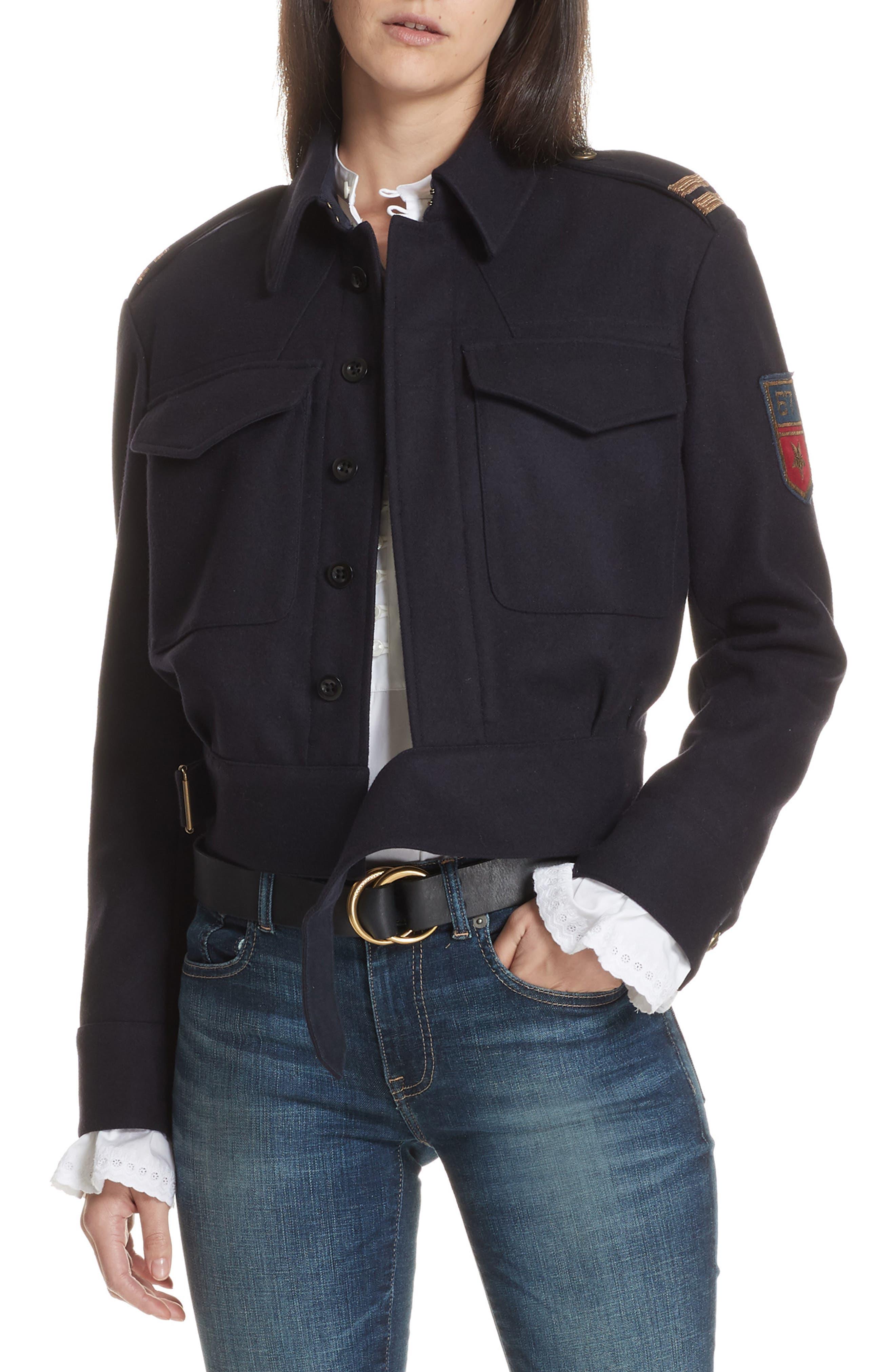 Aviator Jacket,                         Main,                         color, AVIATOR NAVY