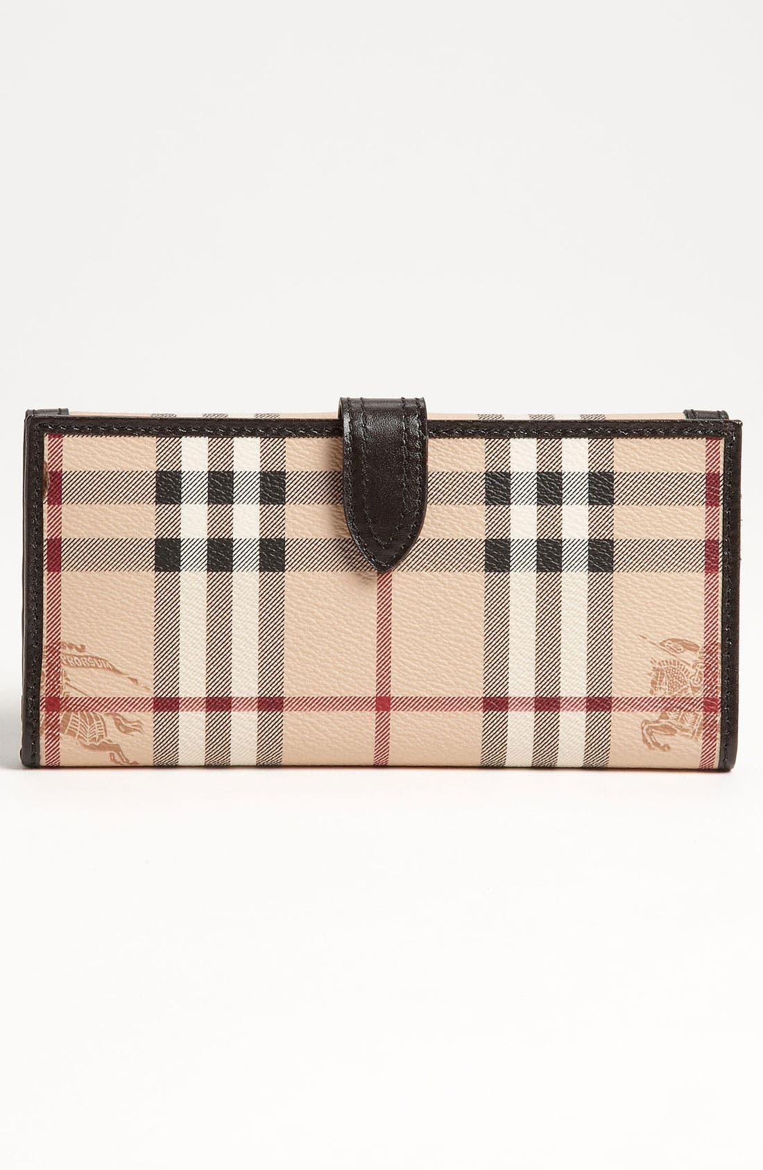 'Haymarket Check' Checkbook Wallet,                             Alternate thumbnail 2, color,