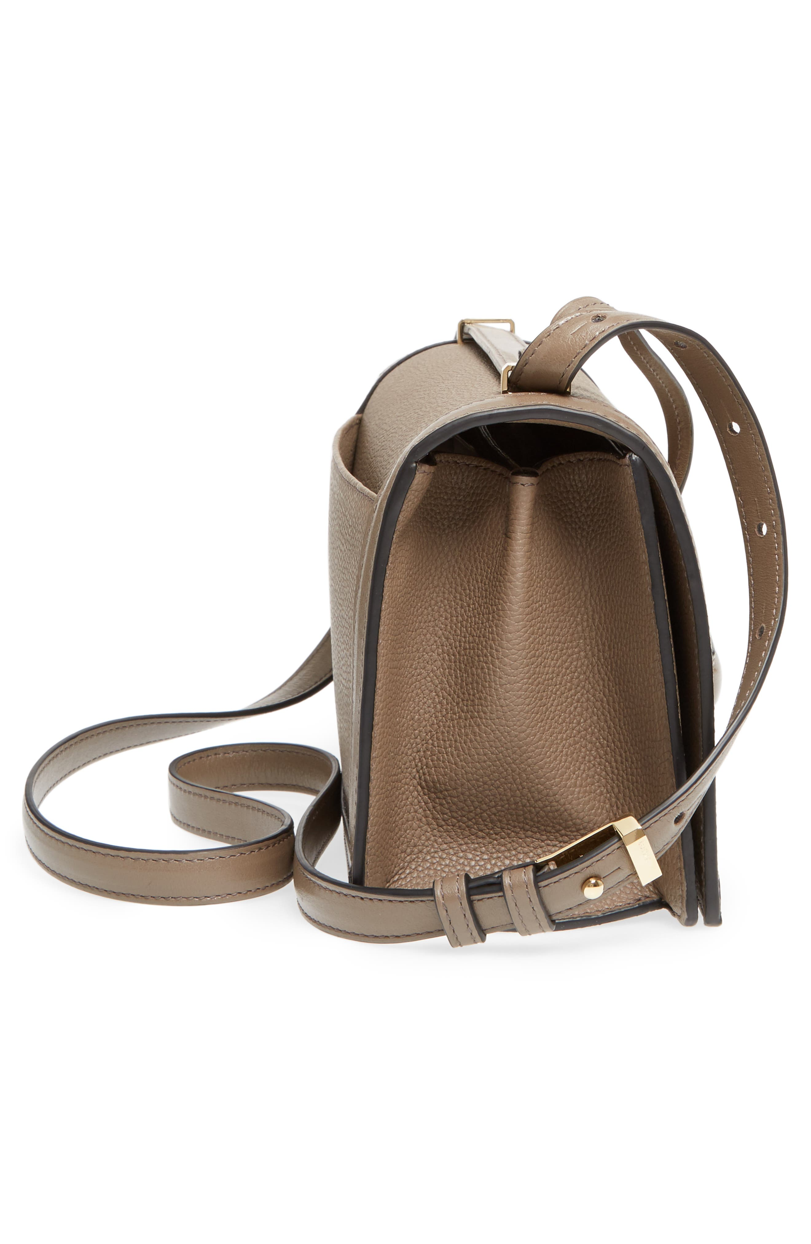 Medium Barcelona Leather Crossbody Bag,                             Alternate thumbnail 5, color,