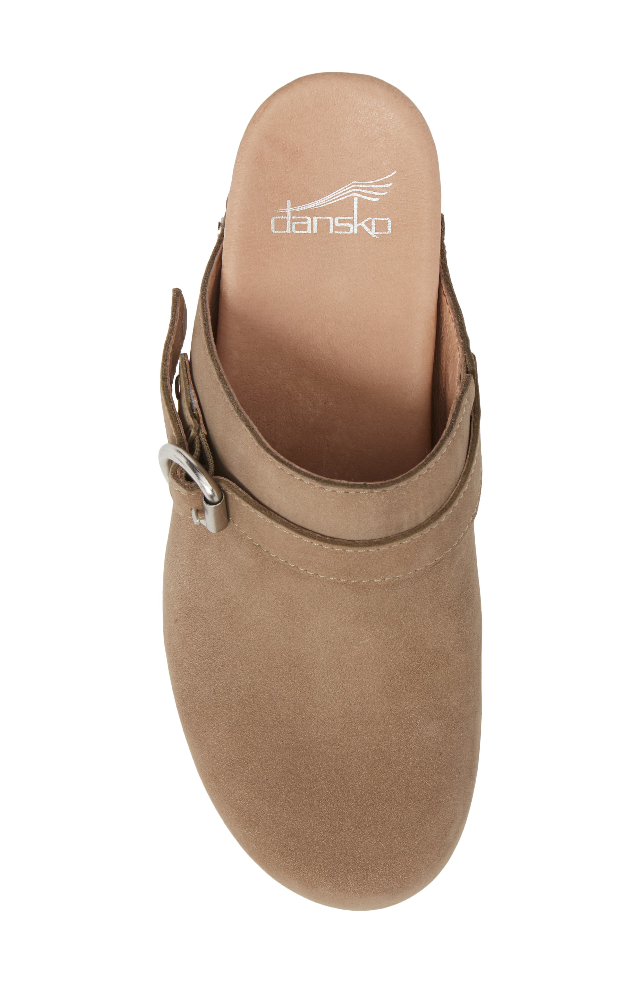Marty Clog,                             Alternate thumbnail 5, color,                             TAUPE MILLED NUBUCK LEATHER