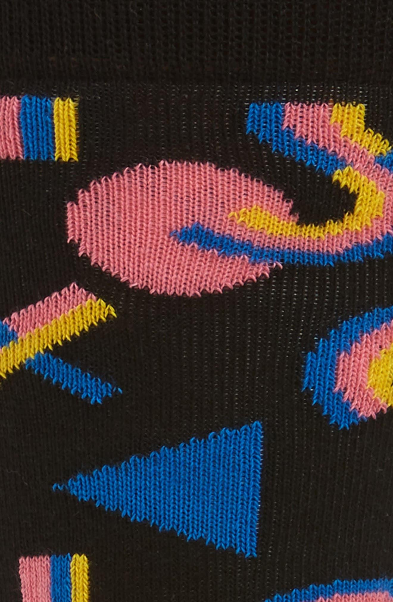 Mix Max Pattern Socks,                             Alternate thumbnail 2, color,                             BLACK MULTI