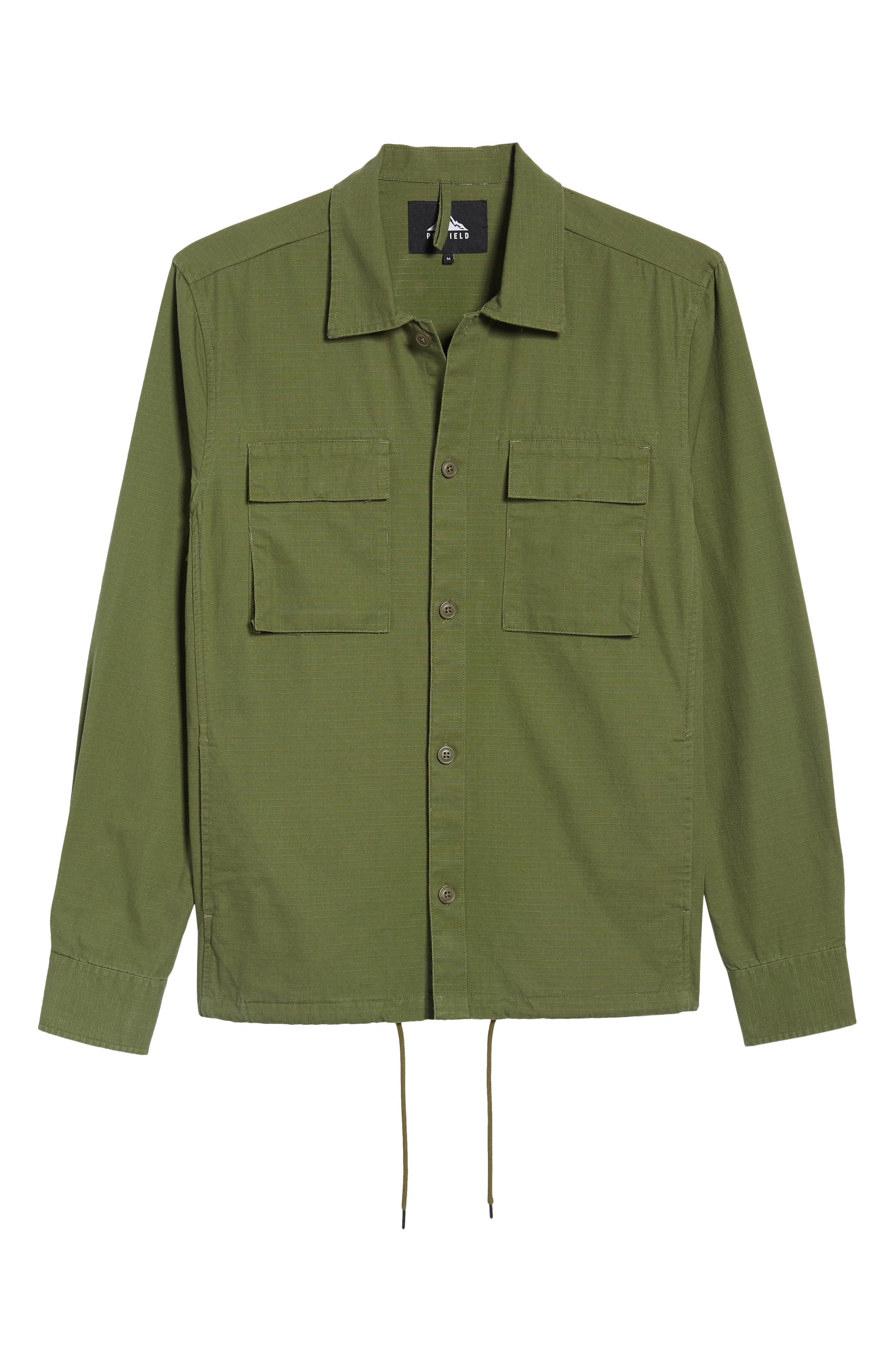 Oakledge Ripstop Shirt Jacket,                             Alternate thumbnail 5, color,                             300