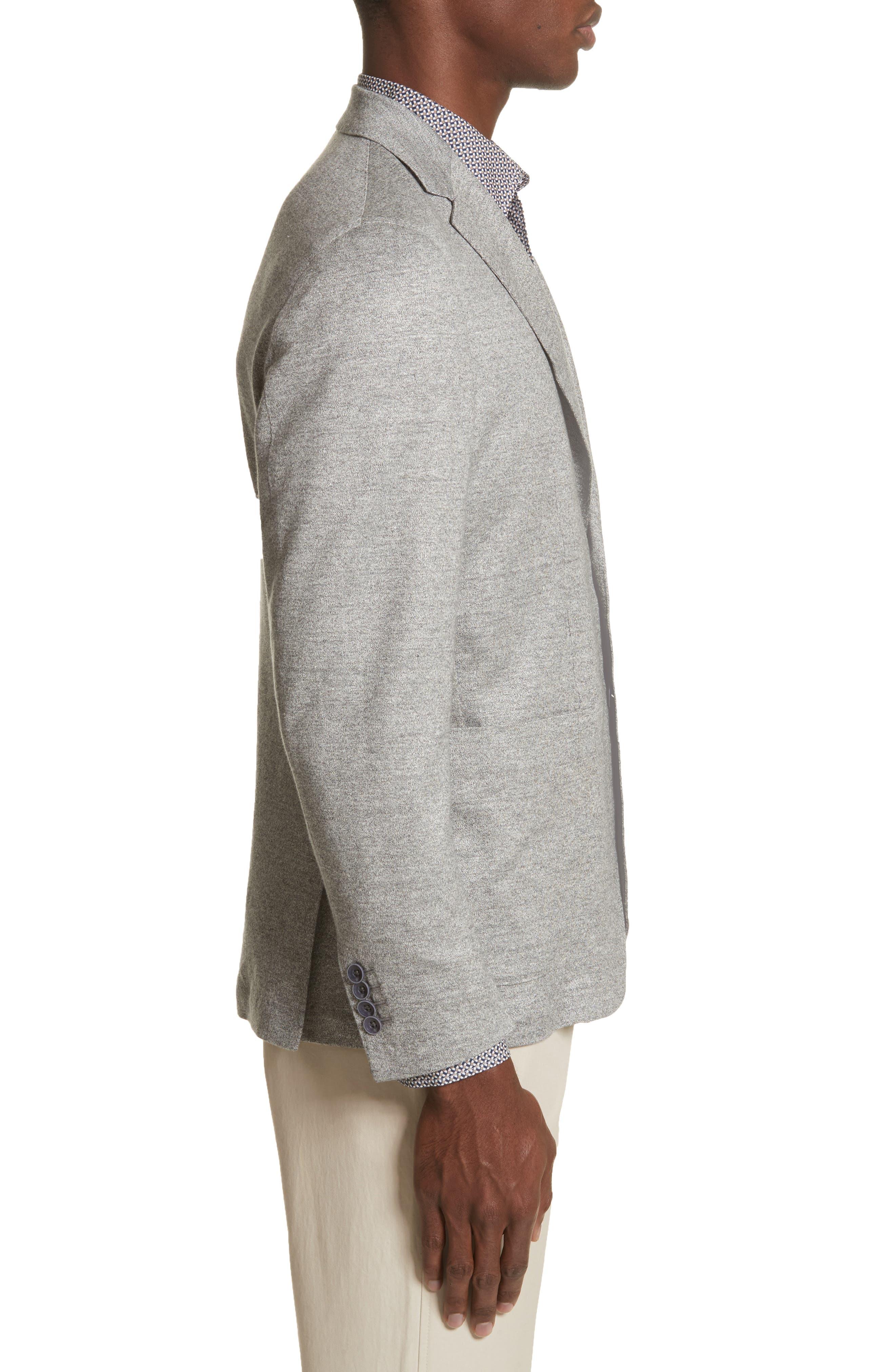 Trim Fit Washed Jersey Jacket,                             Alternate thumbnail 3, color,                             050