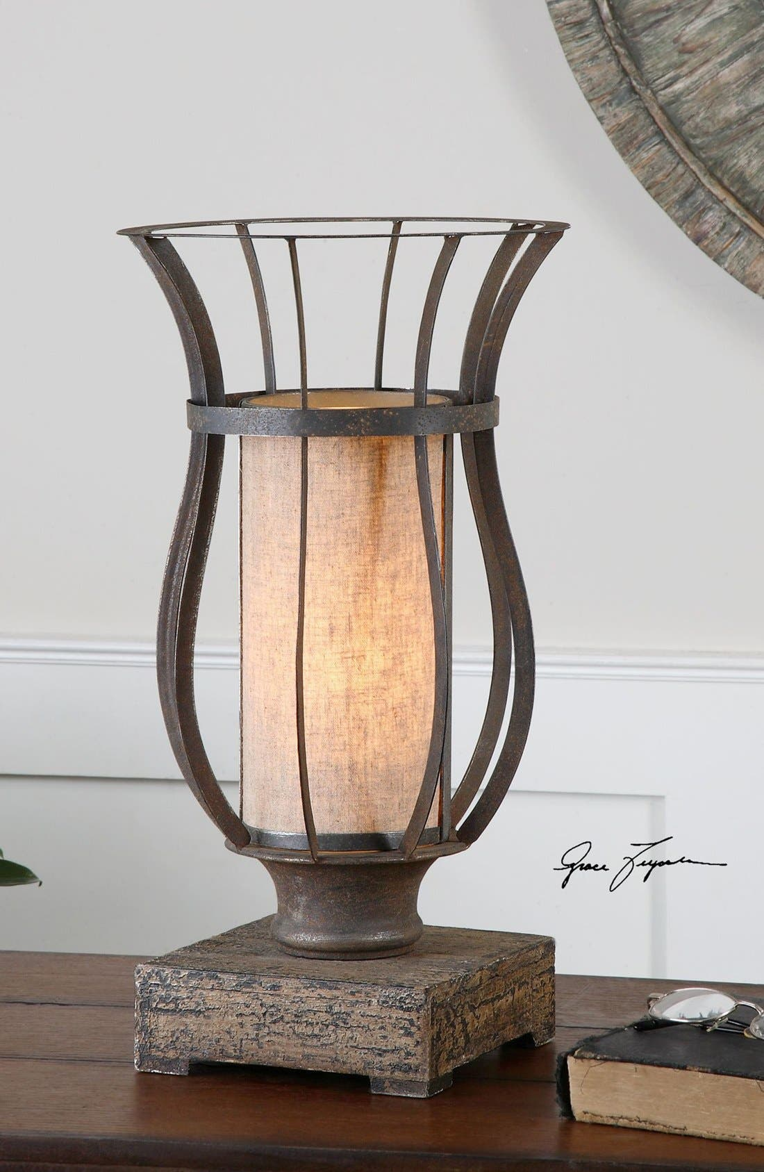 'Minozzo' Bronze Lamp,                             Alternate thumbnail 2, color,                             220