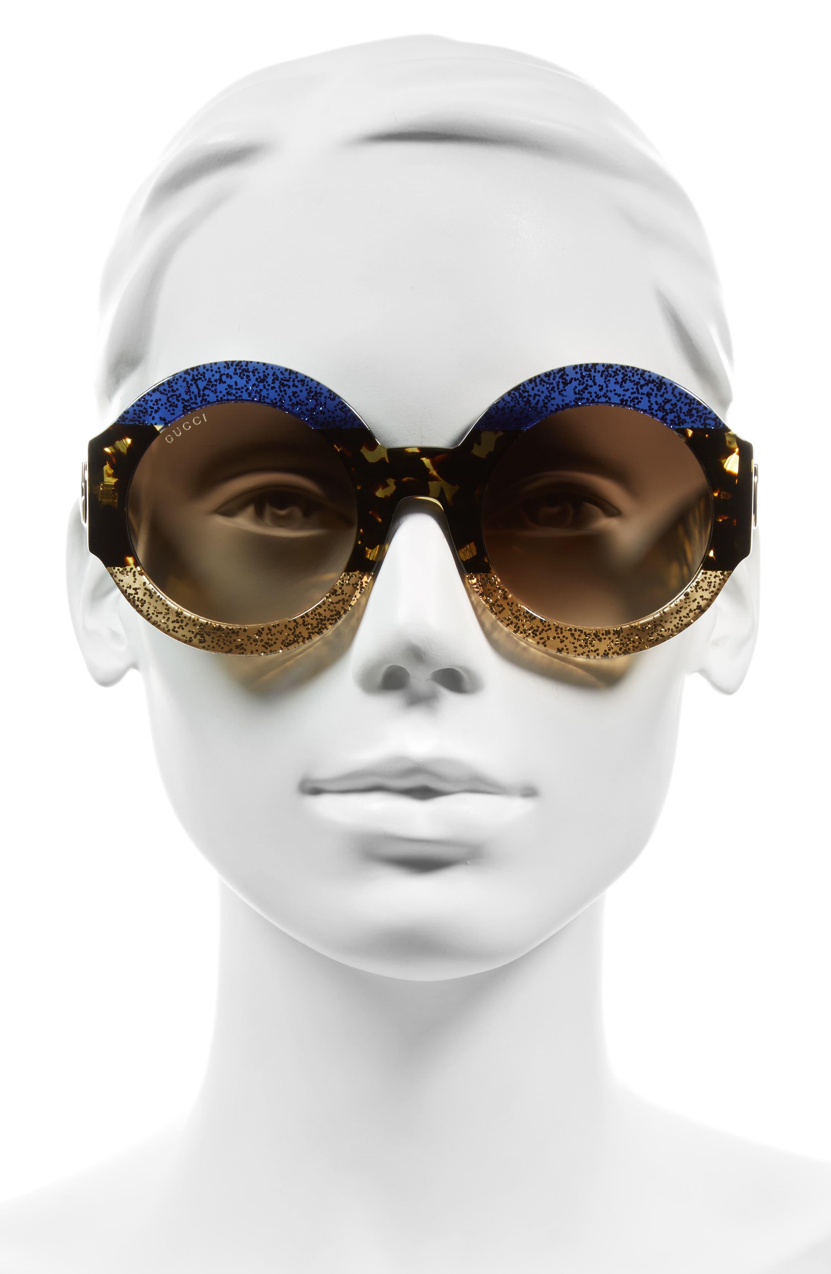 51mm Round Sunglasses,                             Alternate thumbnail 2, color,                             400