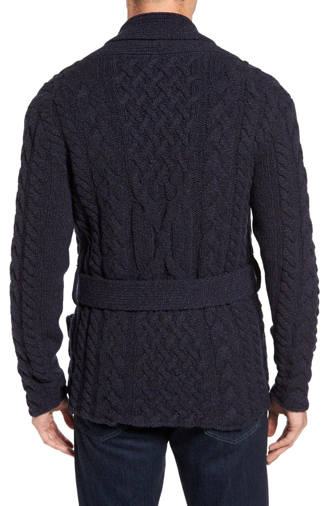 EIDOS,                             Napoli Cable Knit Wool Cardigan,                             Alternate thumbnail 8, color,                             405
