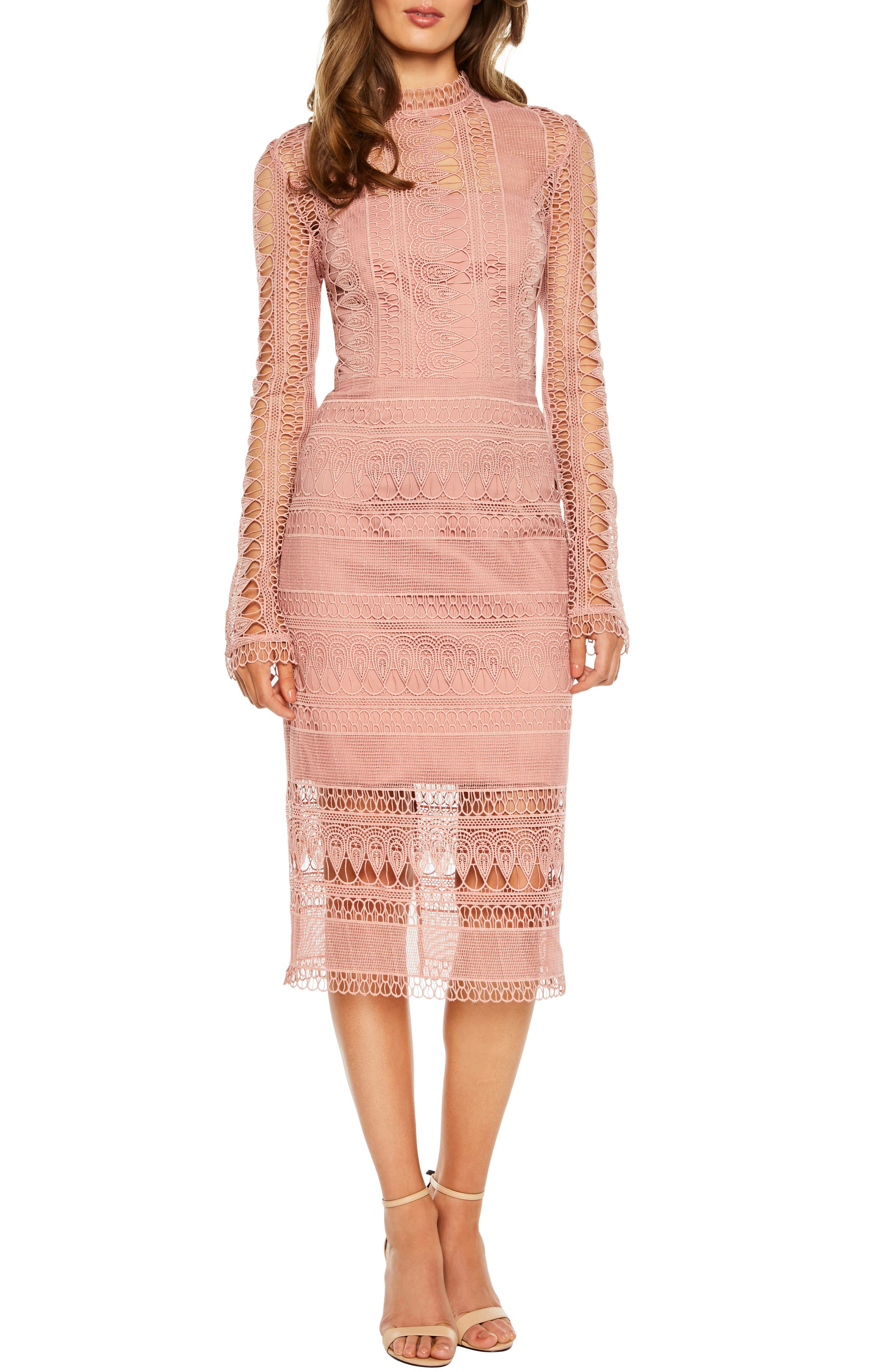 Mariana Lace Dress in Vintage Rose