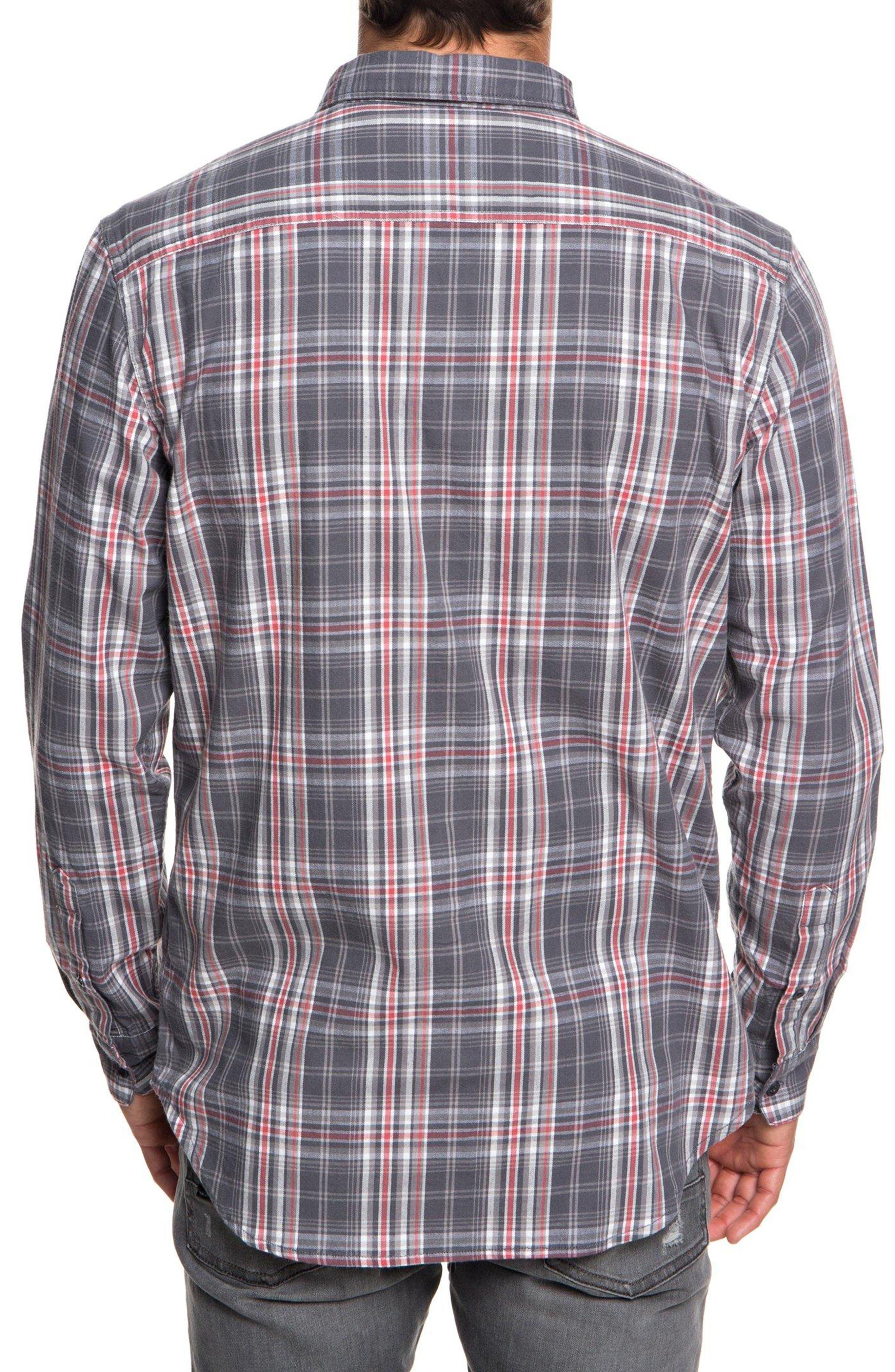 Fitz Sport Shirt,                             Alternate thumbnail 2, color,                             IRON GATE FITZ CHECK