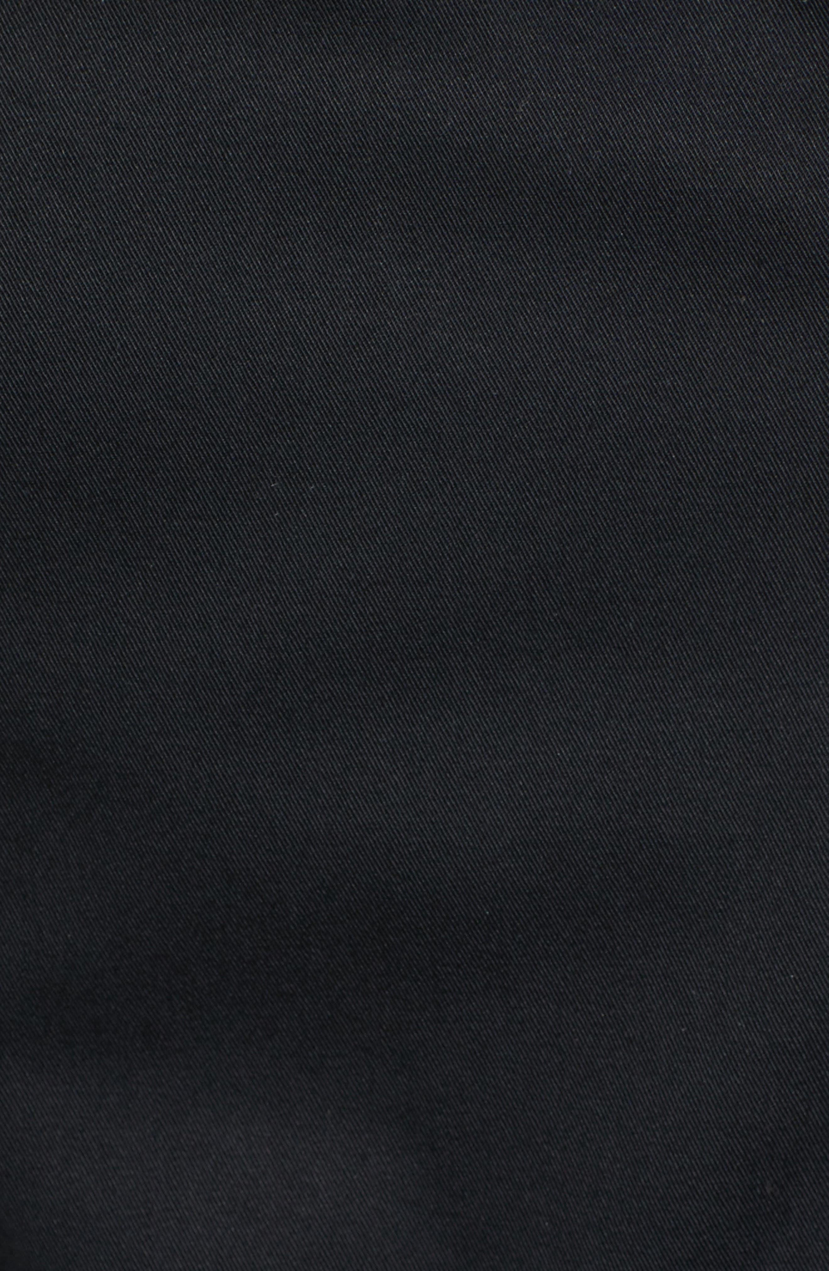 Estela Belted Long Trench Coat,                             Alternate thumbnail 5, color,                             001