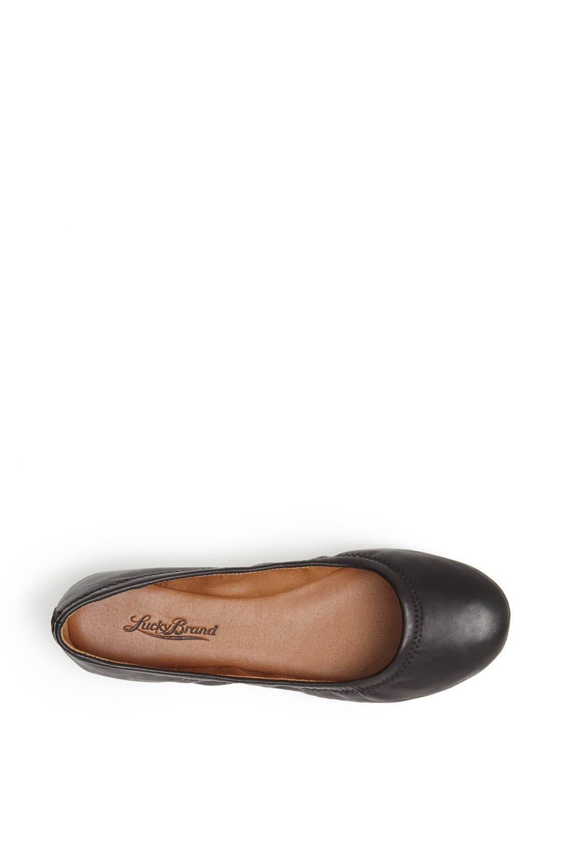 LUCKY BRAND,                             'Emmie' Flat,                             Alternate thumbnail 3, color,                             001