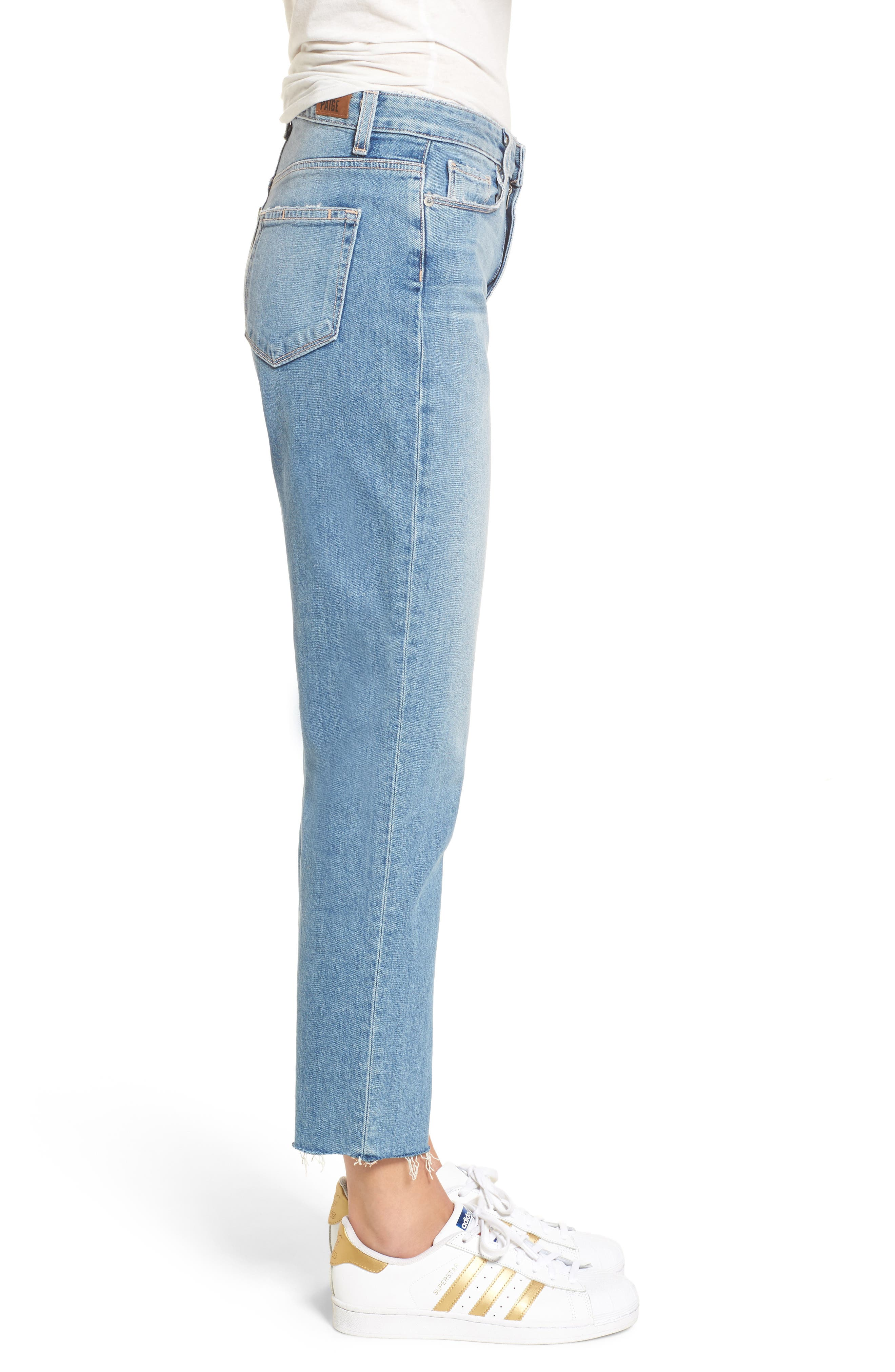 Vintage - Sarah High Waist Crop Straight Leg Jeans,                             Alternate thumbnail 3, color,                             400