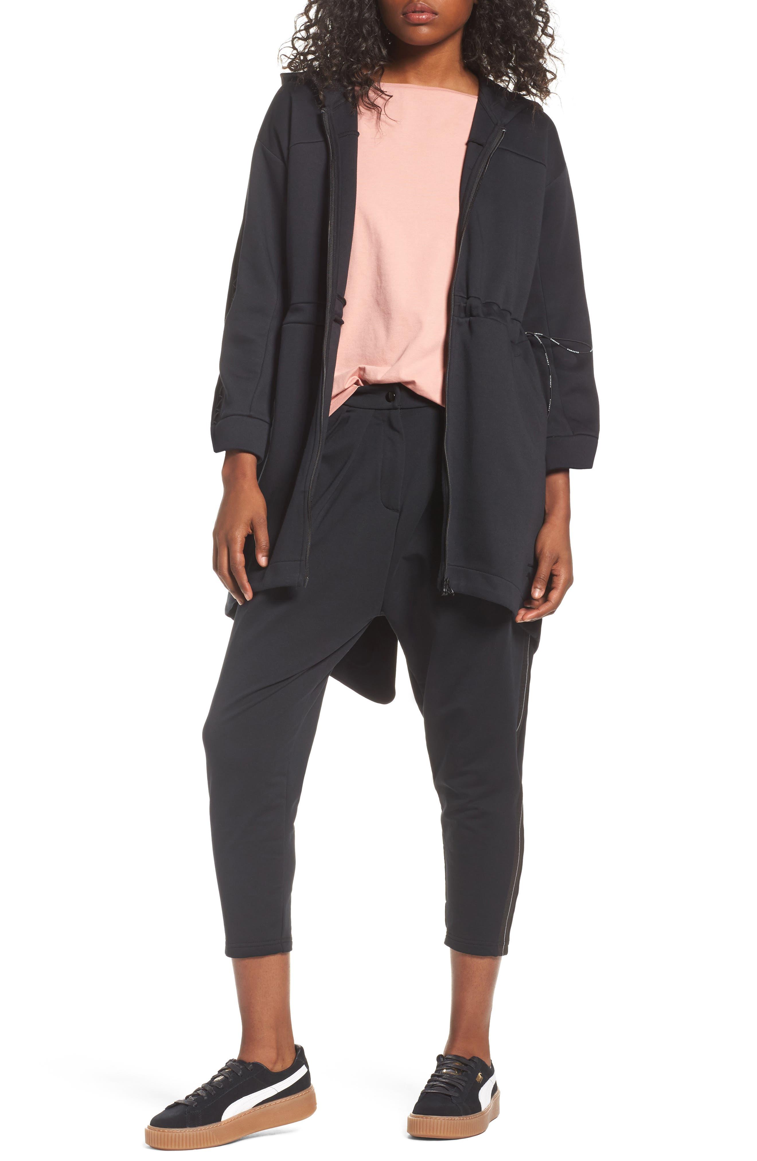 Lacing Midlayer Jacket,                         Main,                         color, 001