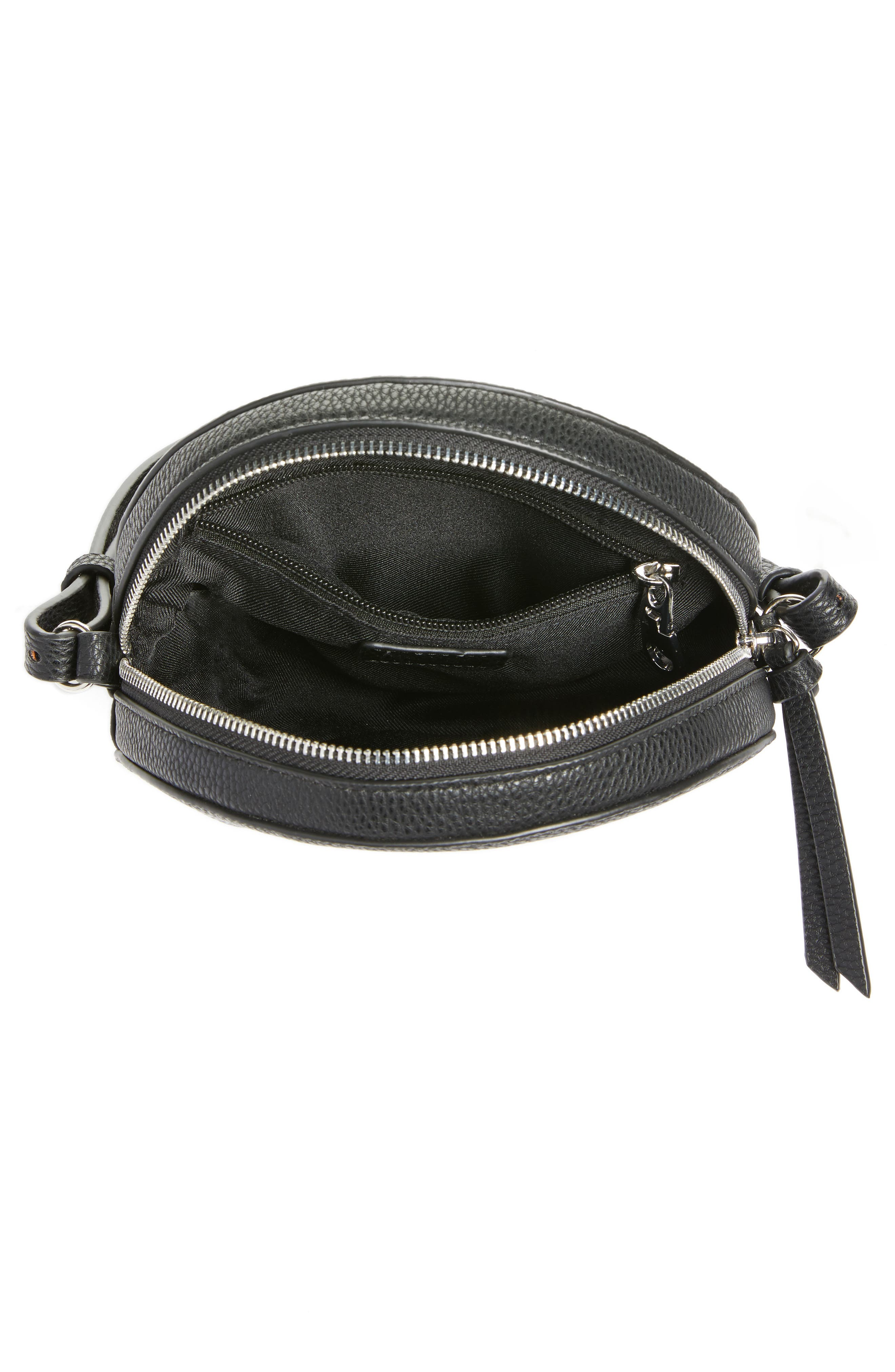 Cassie Faux Leather Crossbody Bag,                             Alternate thumbnail 4, color,                             001