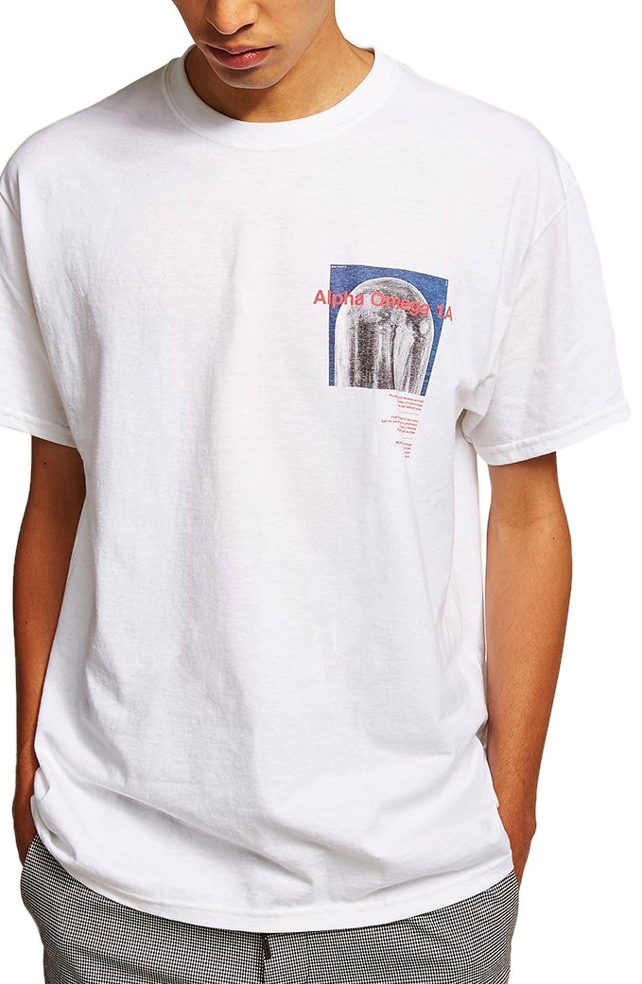 Moon Graphic T-Shirt,                             Main thumbnail 1, color,                             WHITE MULTI