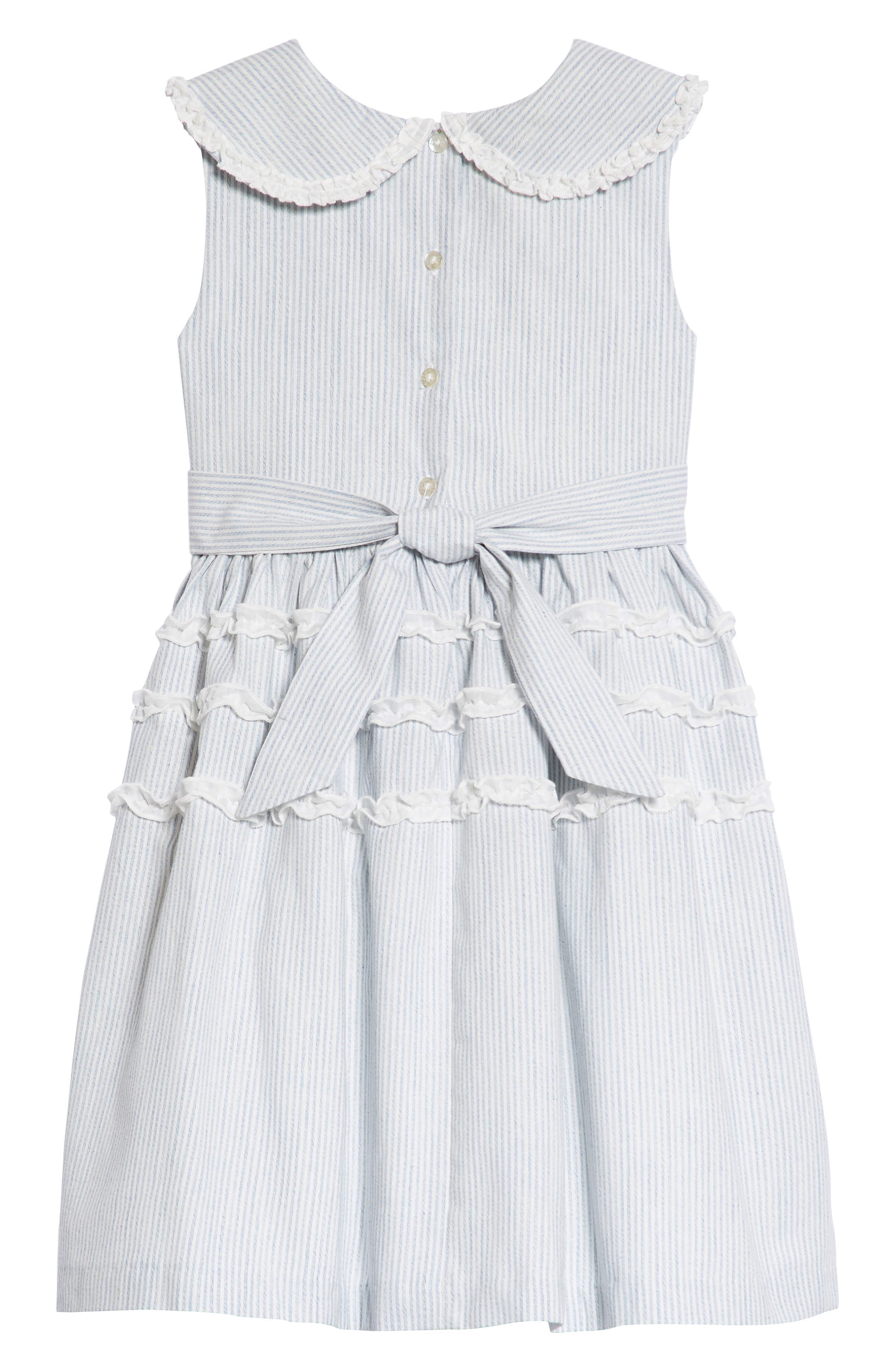 Stripe Ruffle Dress,                             Alternate thumbnail 2, color,                             402