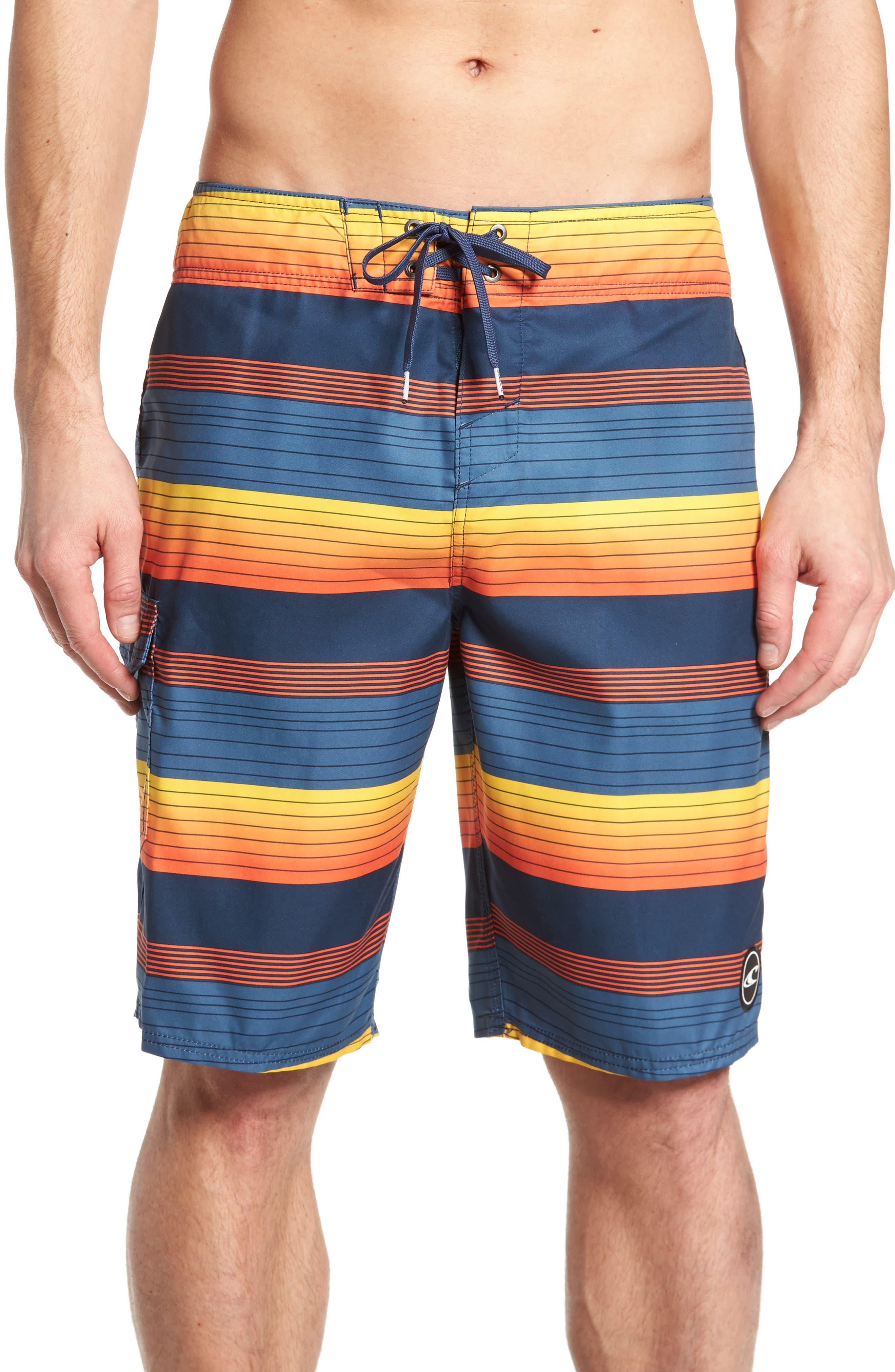 Santa Cruz Stripe Board Shorts,                         Main,                         color, 415