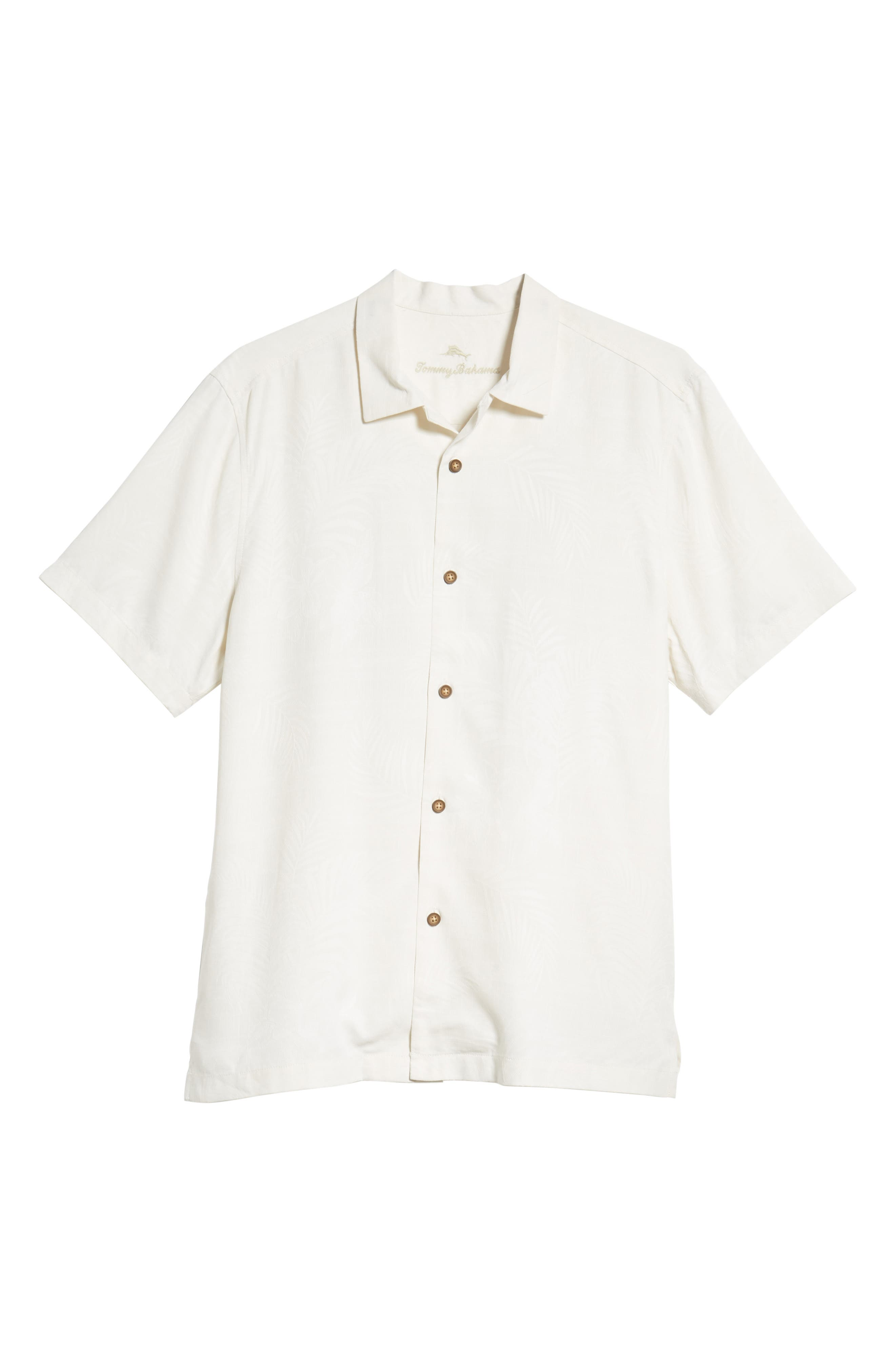 TOMMY BAHAMA,                             Tailgate Club Embroidered Silk Camp Shirt,                             Alternate thumbnail 6, color,                             100