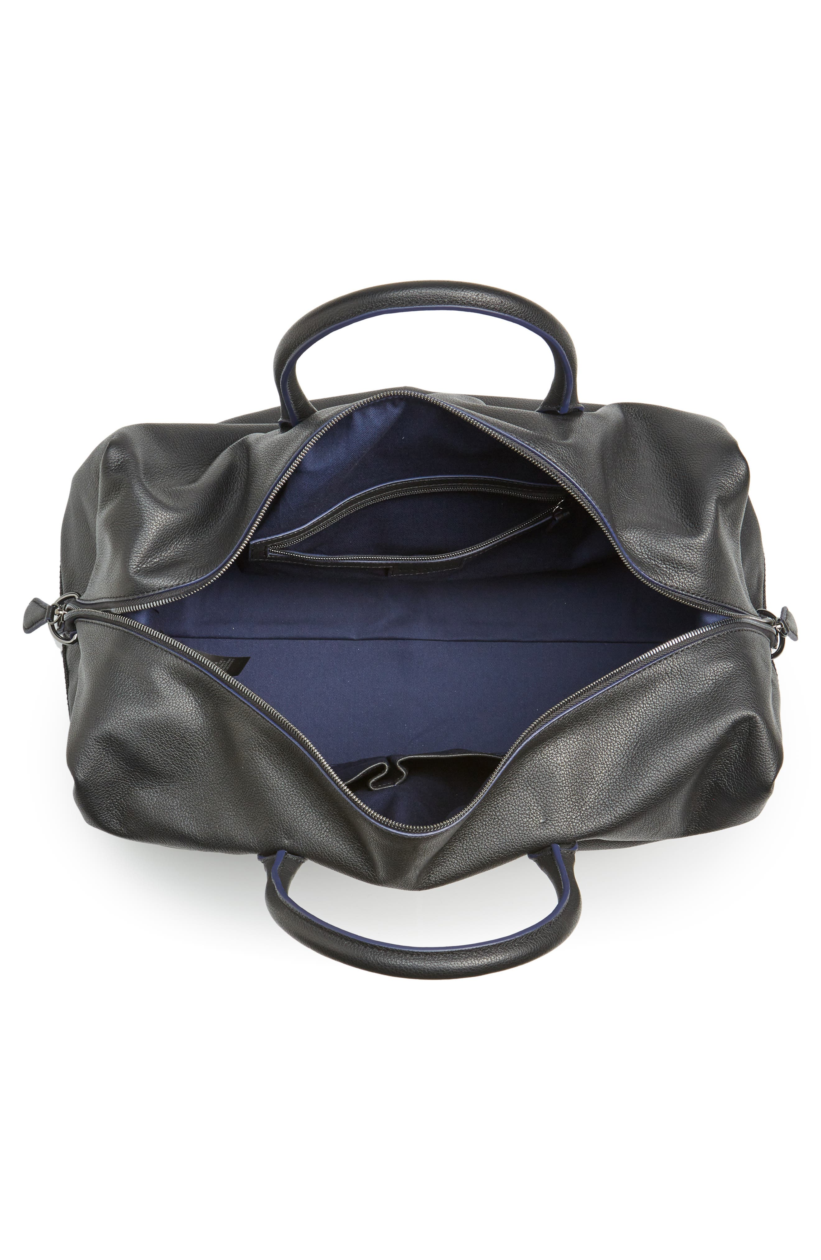 Mylow Duffel Bag,                             Alternate thumbnail 4, color,                             BLACK
