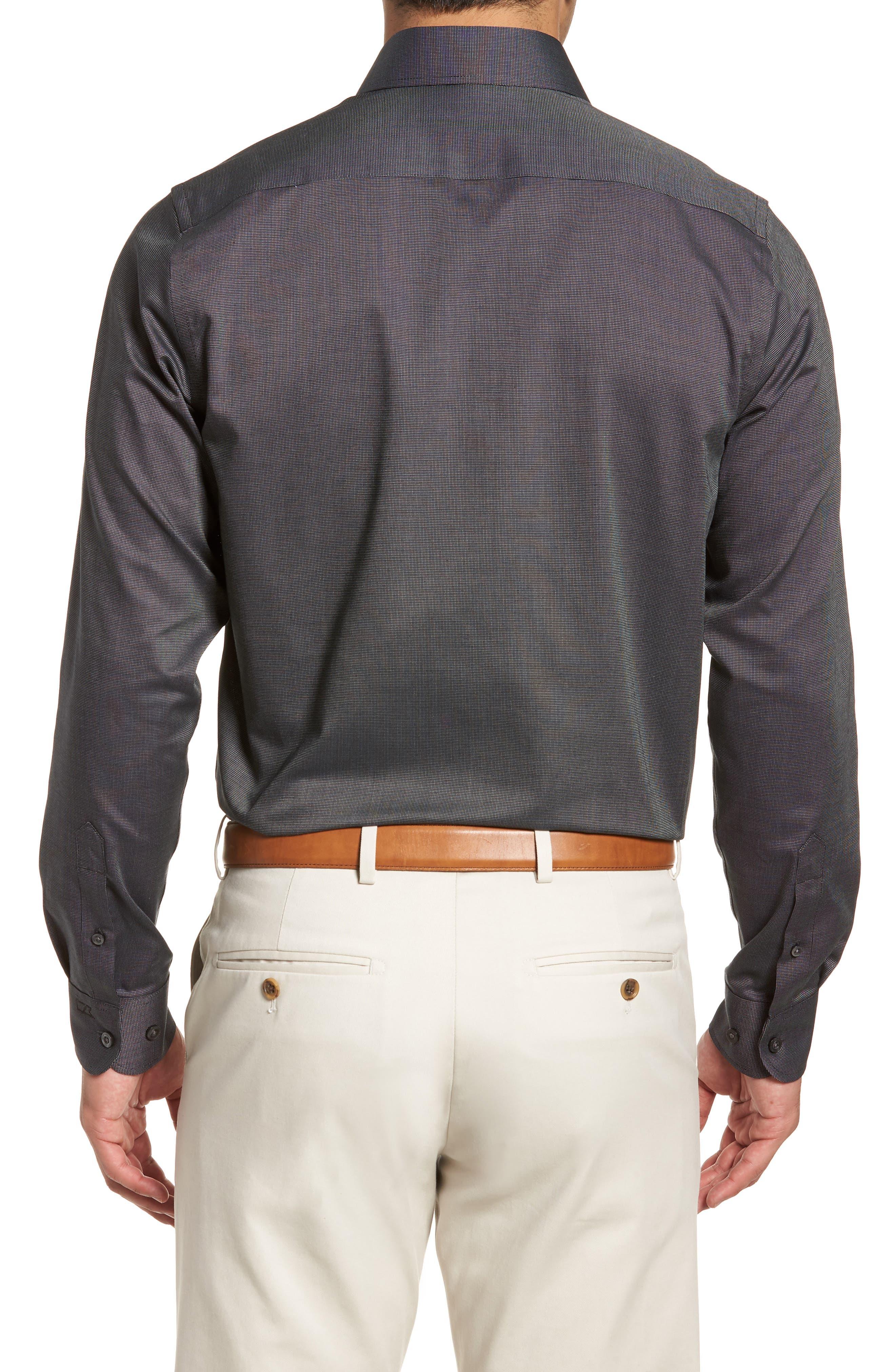 Tailored Fit Sport Shirt,                             Alternate thumbnail 2, color,                             BLACK
