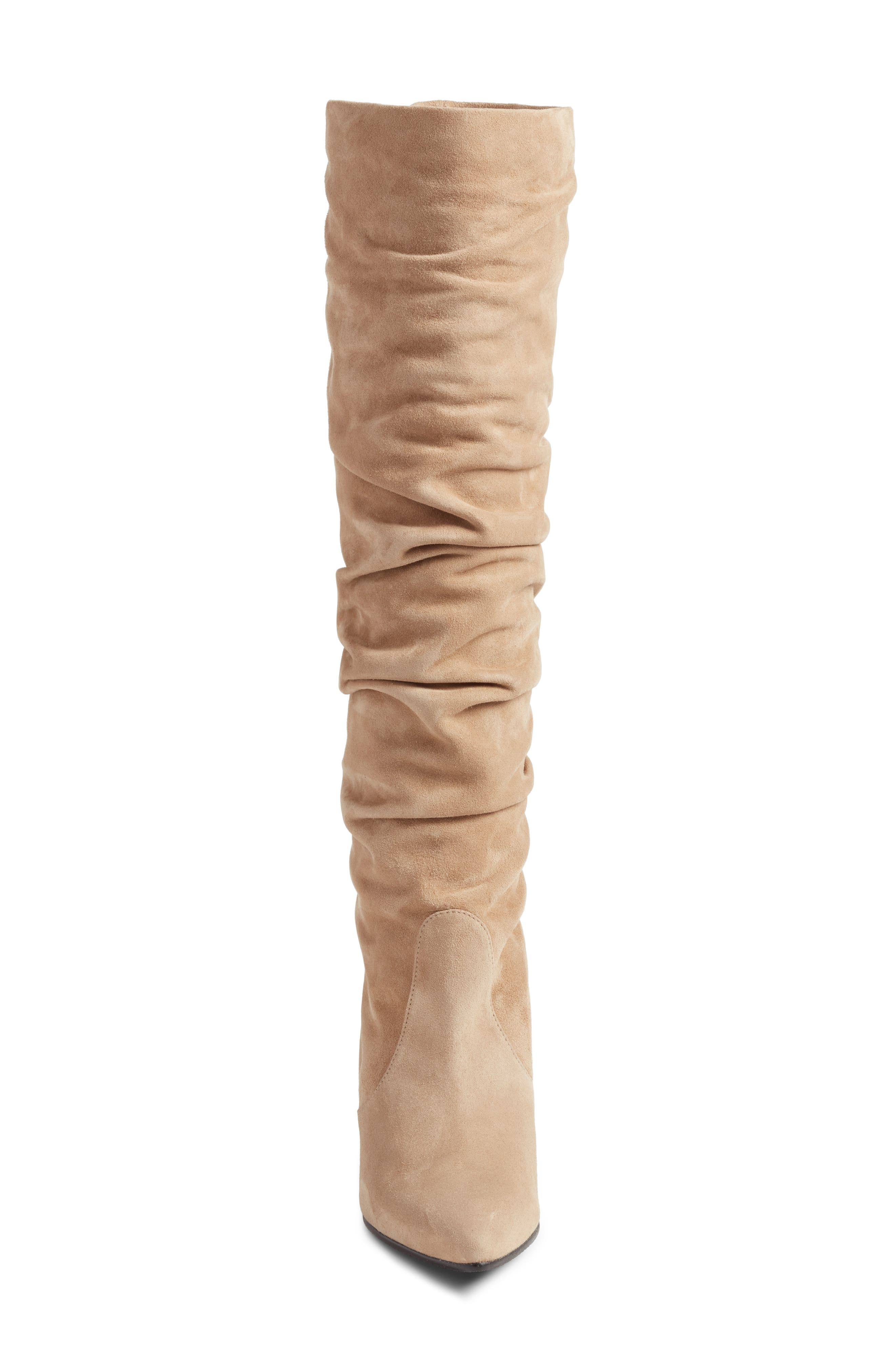 Lafayette Slouch Boot,                             Alternate thumbnail 4, color,                             MOJAVE SUEDE
