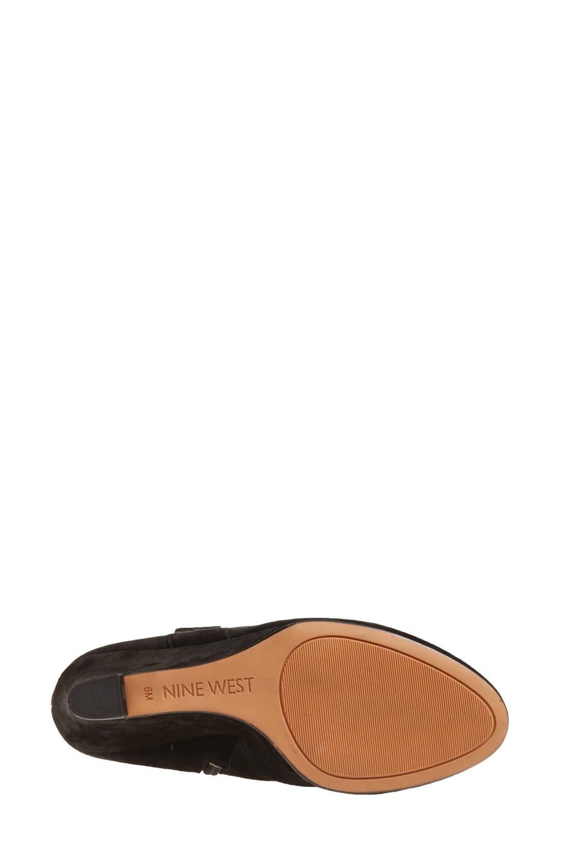 'Oran' Tall Wedge Boot,                             Alternate thumbnail 2, color,                             001