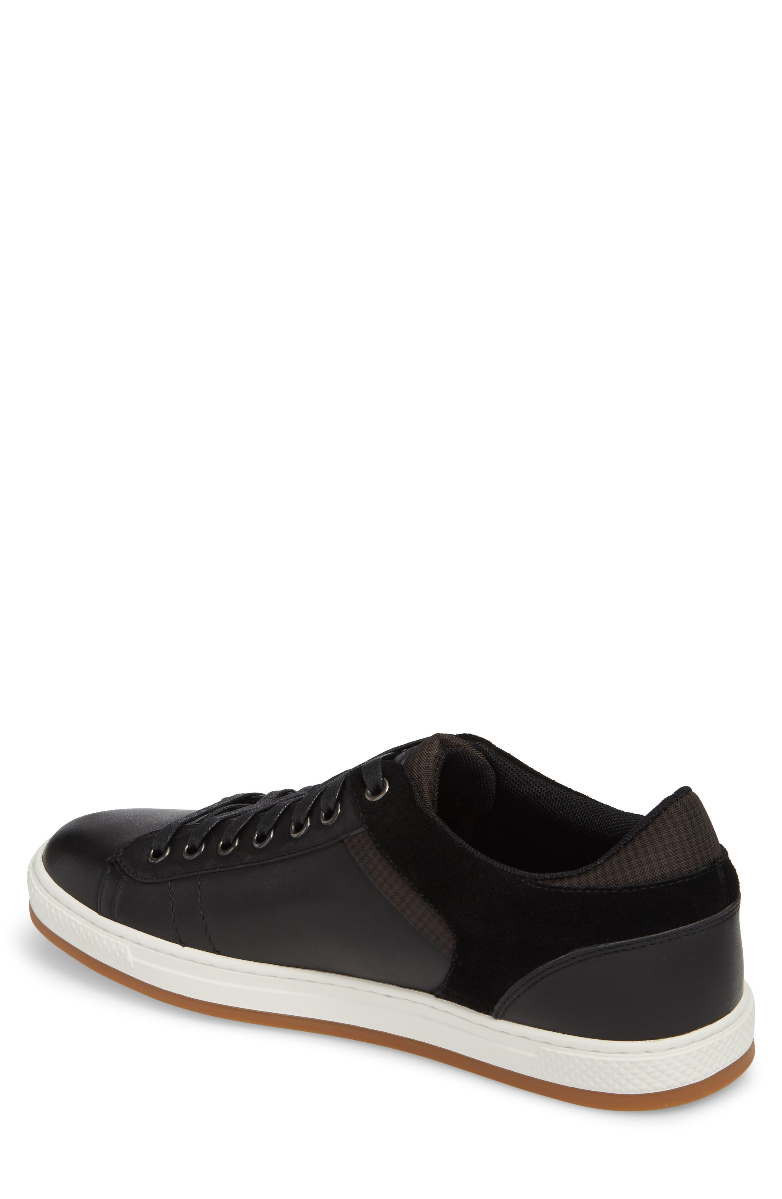 Ireton Low Top Sneaker,                             Alternate thumbnail 2, color,                             BLACK LEATHER/ SUEDE