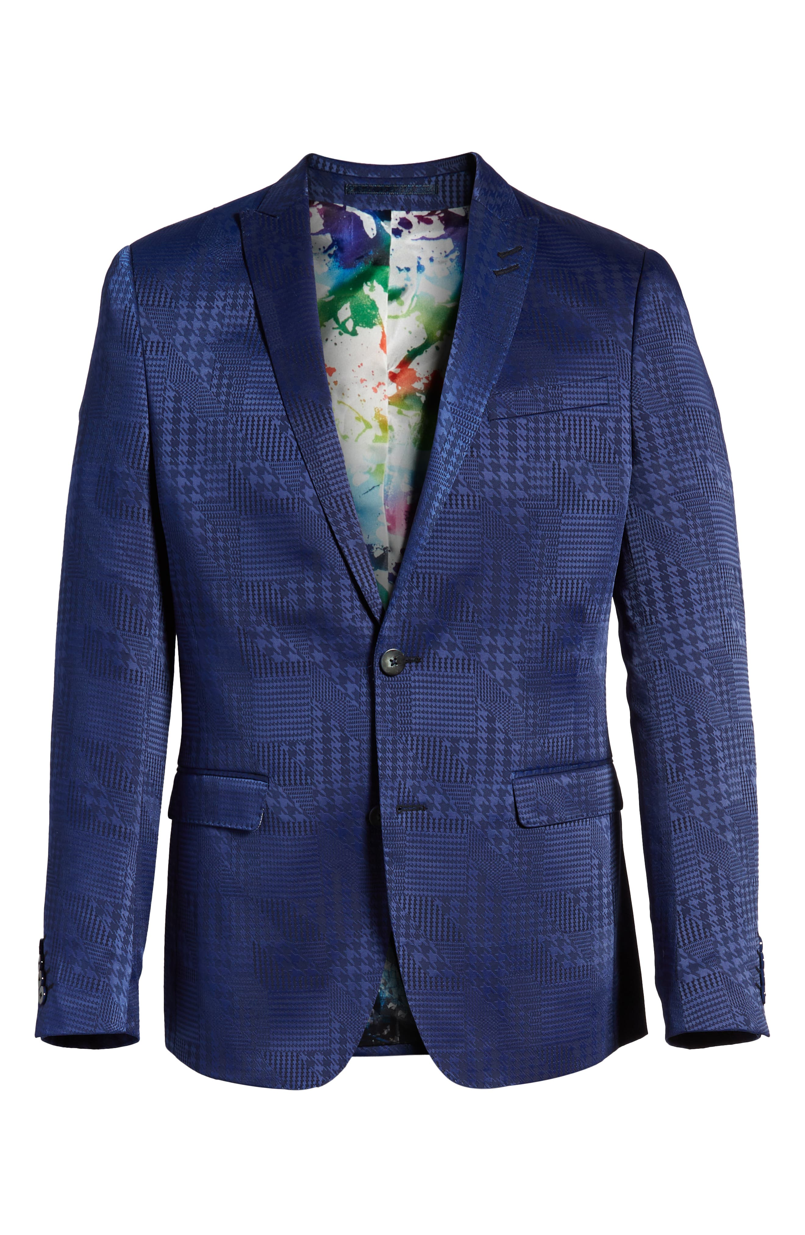 Descartes Patch Houndstooth Sport Coat,                             Alternate thumbnail 5, color,                             420