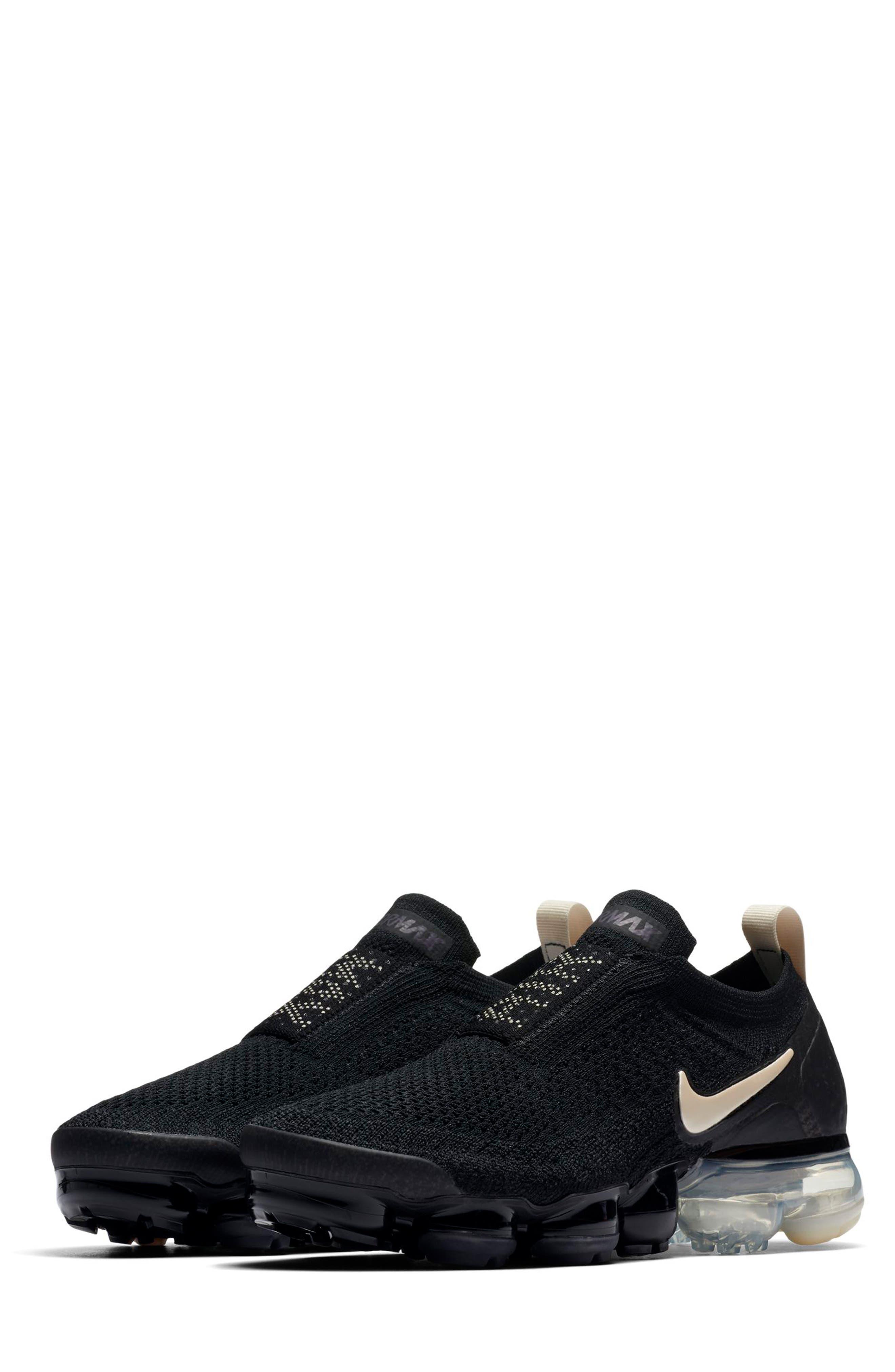 Air VaporMax Flyknit MOC 2 Running Shoe,                             Main thumbnail 1, color,                             BLACK