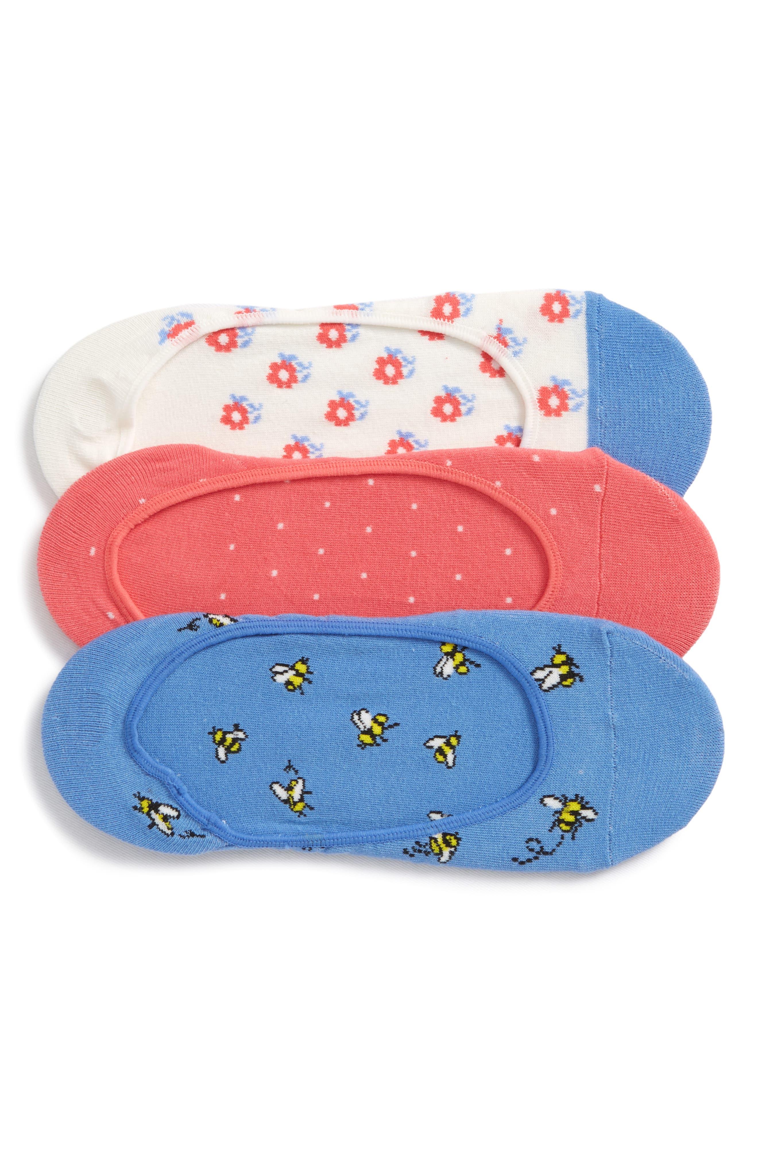 3-pack abuzz no-show socks,                             Main thumbnail 2, color,