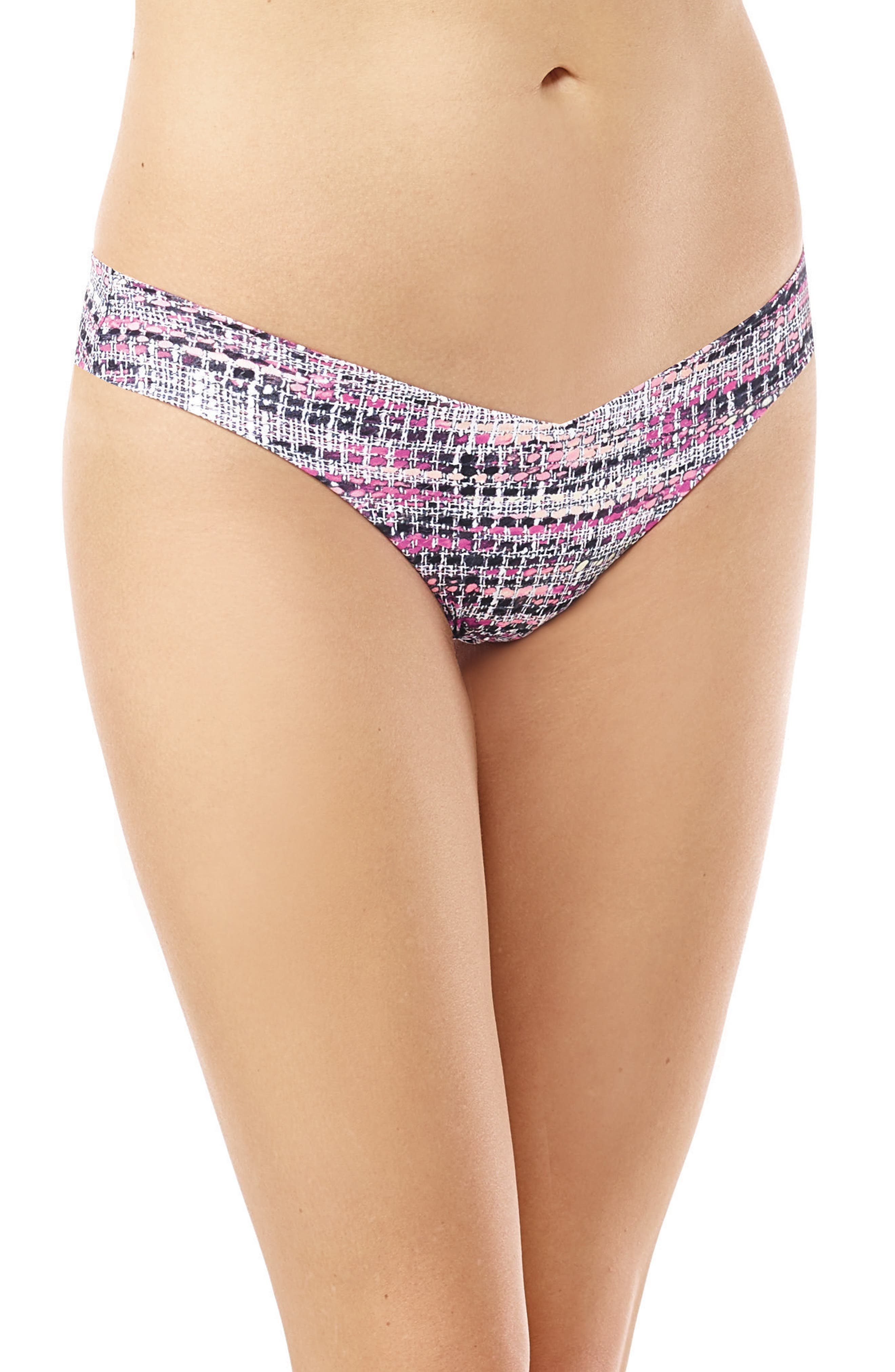 Print Microfiber Thong,                             Main thumbnail 27, color,