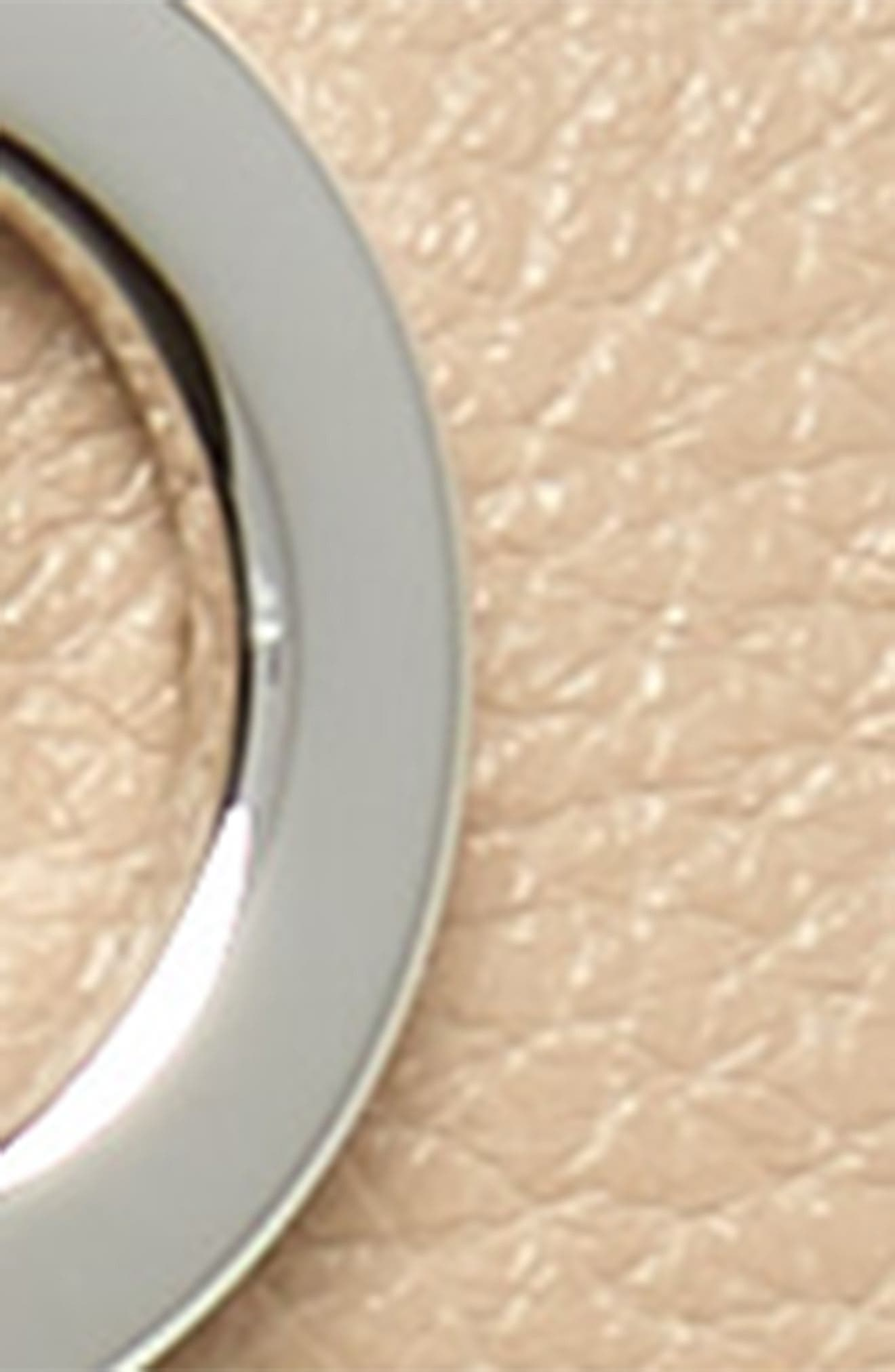 Double Gancio Reversible Leather Belt,                             Alternate thumbnail 4, color,                             NEW BISQUE/ NERO