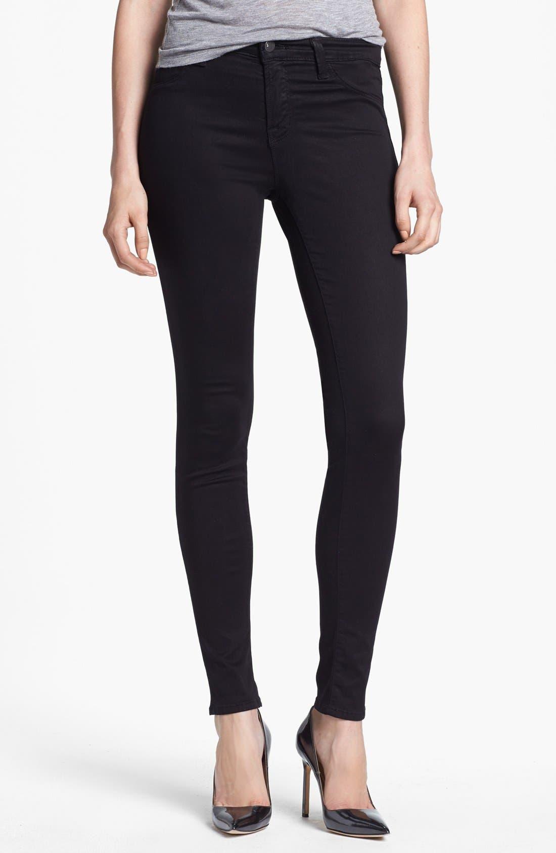 '485' Mid Rise Super Skinny Jeans,                             Main thumbnail 1, color,                             103