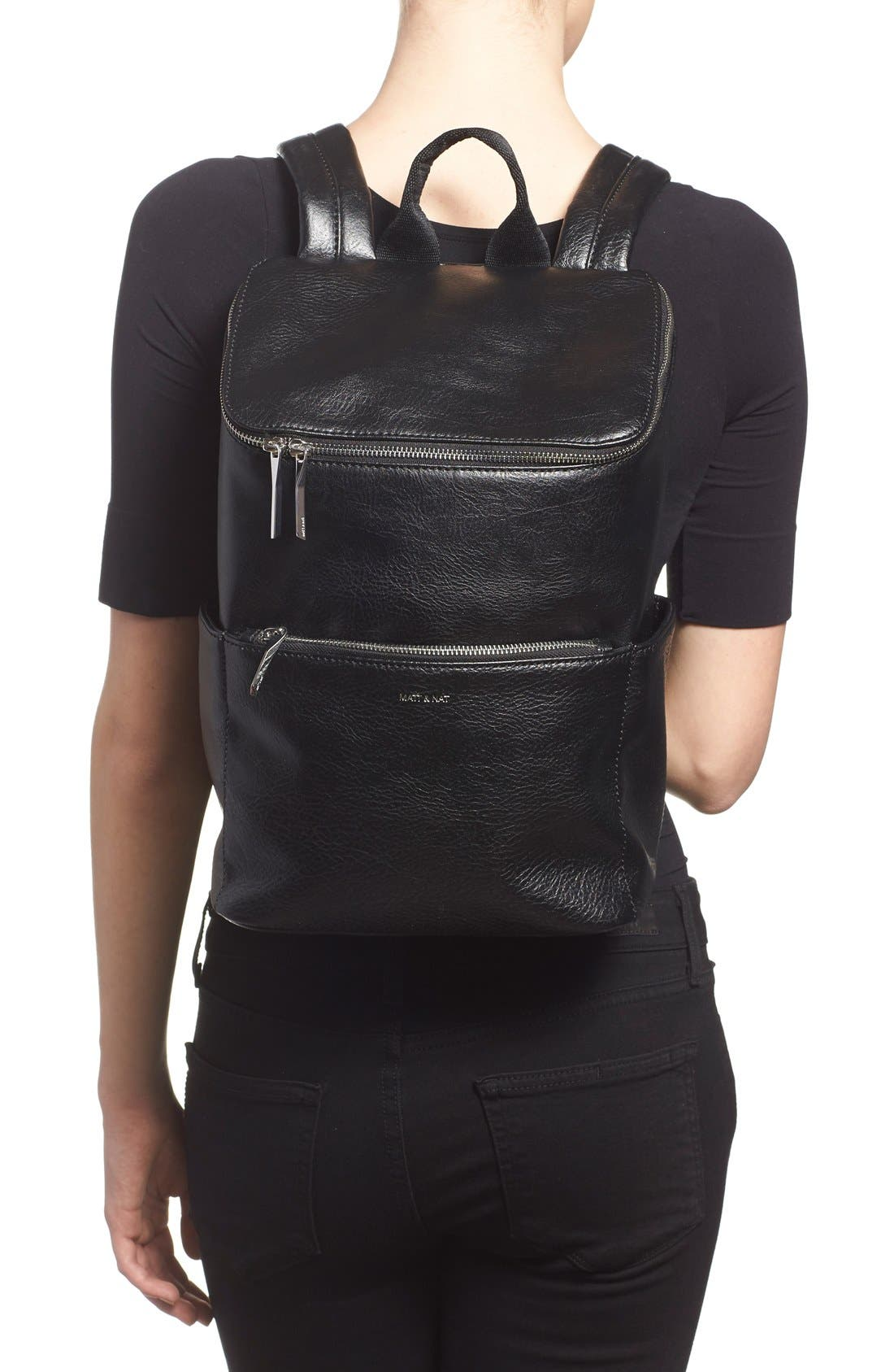 'Brave' Faux Leather Backpack,                             Alternate thumbnail 52, color,