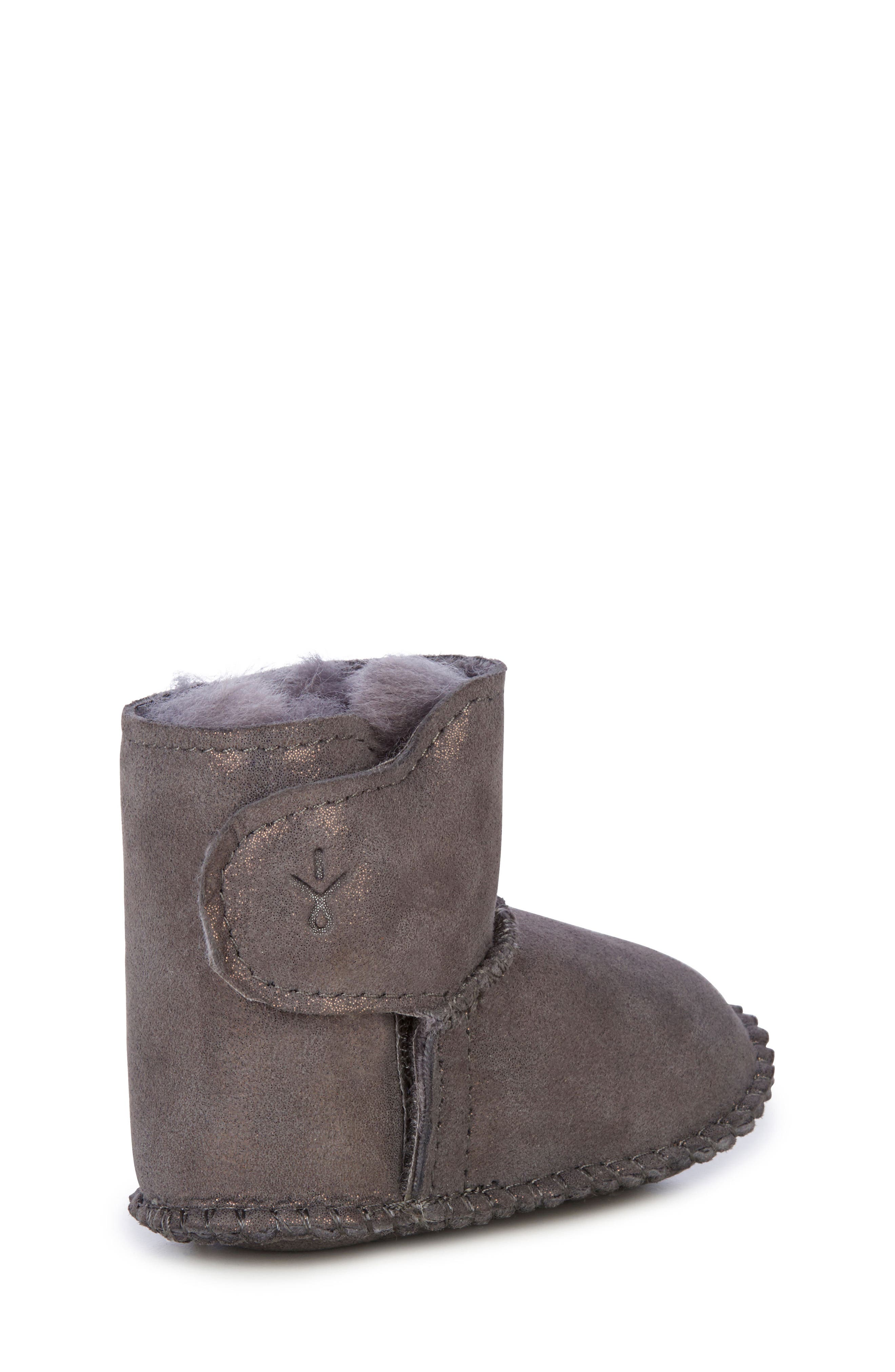 Water Resistant Metallic Bootie,                             Alternate thumbnail 10, color,                             CHARCOAL