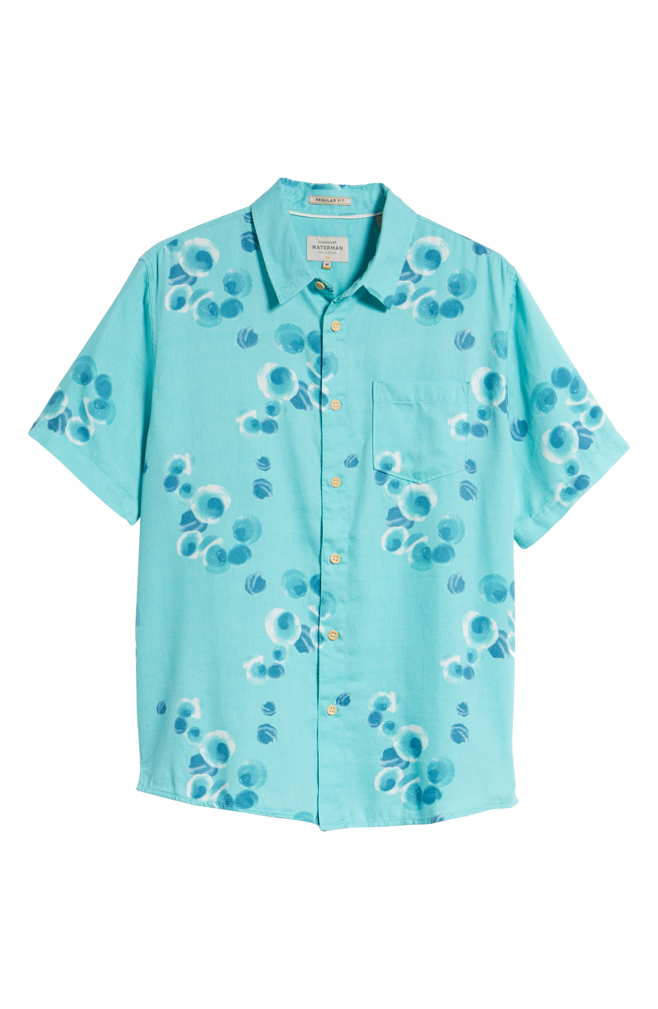 Plumes Dune Regular Fit Sport Shirt,                             Alternate thumbnail 6, color,                             BLUE RADIANCE