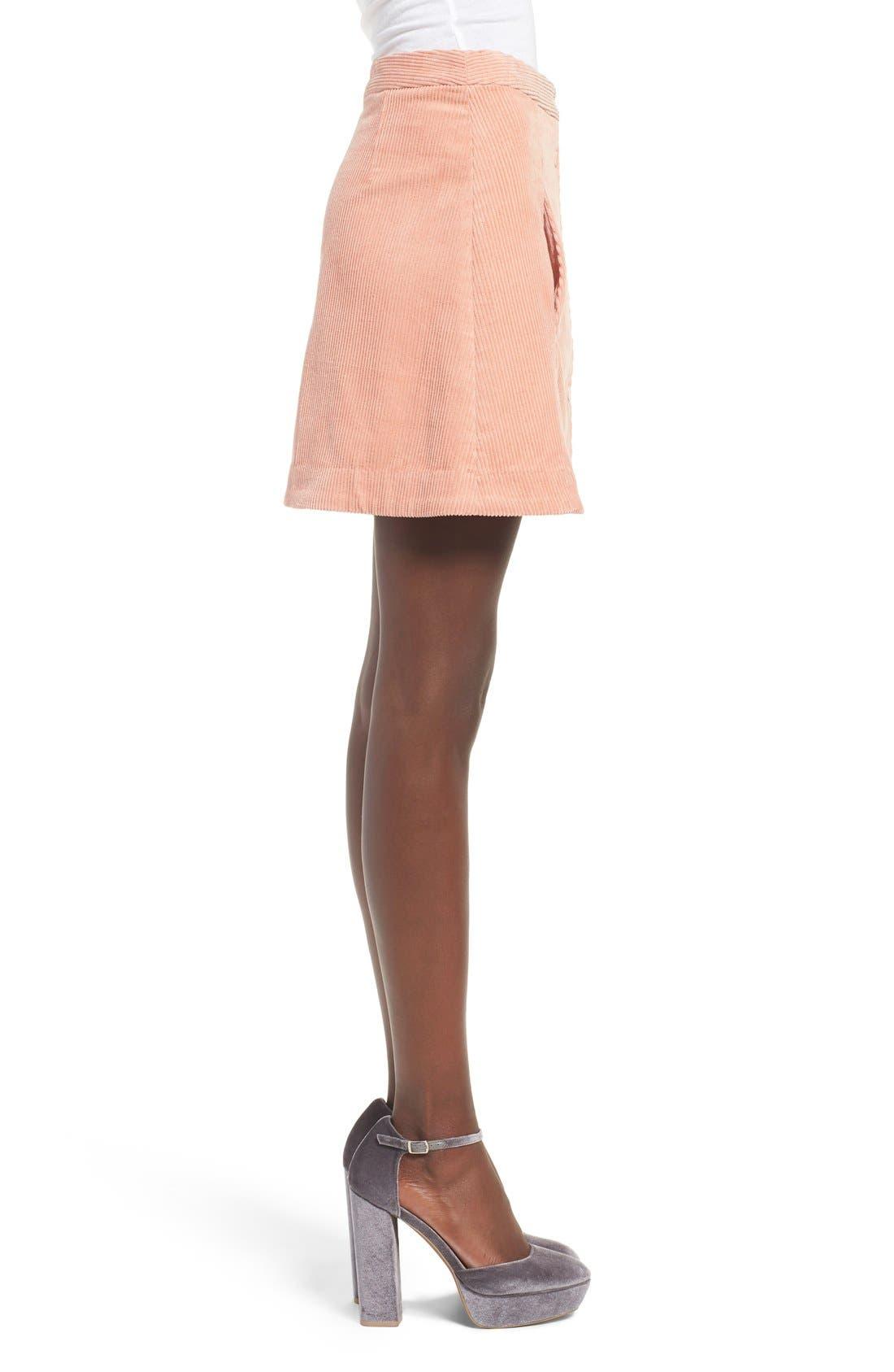 Irene Corduroy Miniskirt,                             Alternate thumbnail 4, color,                             650