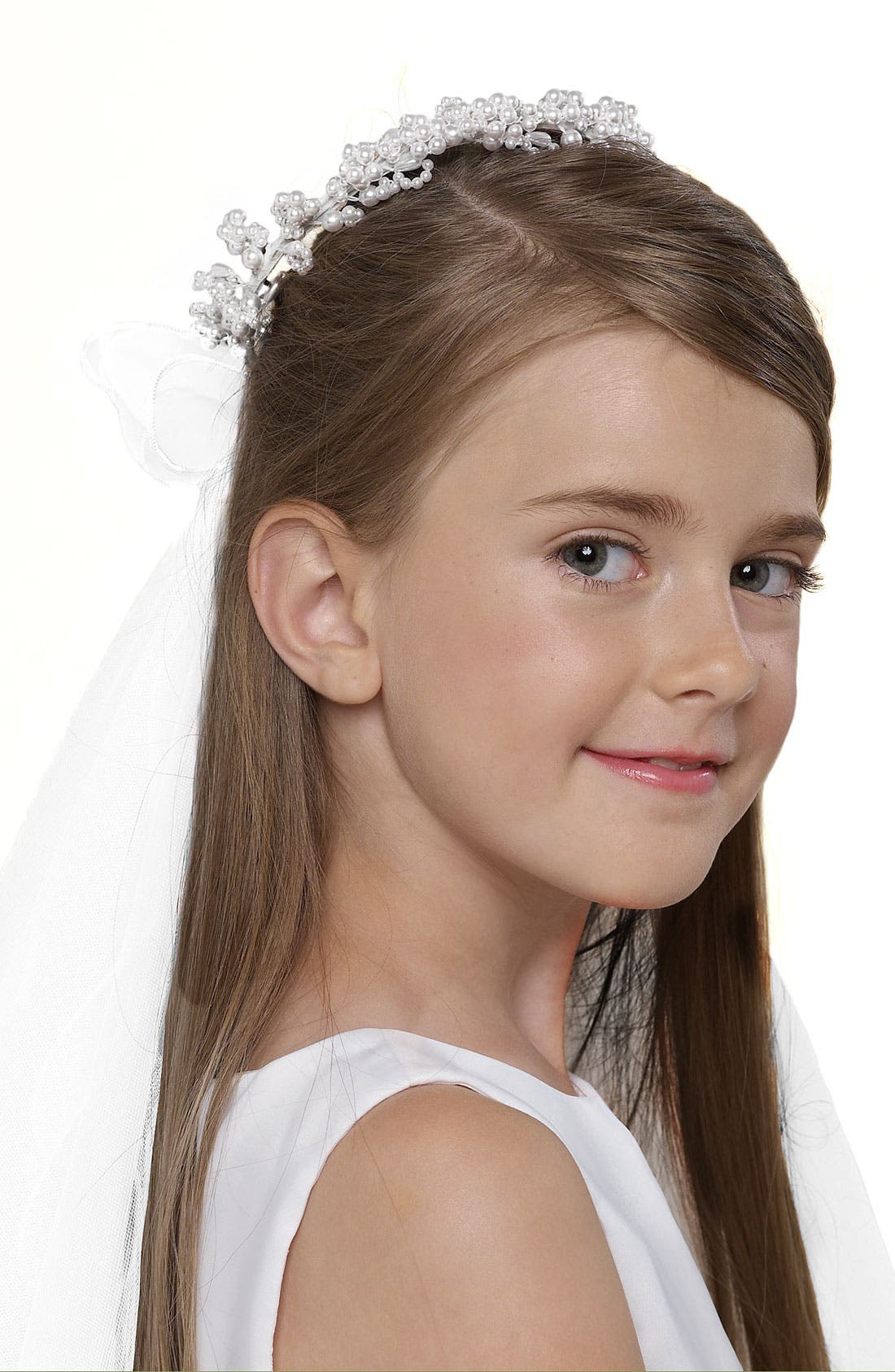 Wreath with Removable Veil,                         Main,                         color, 100