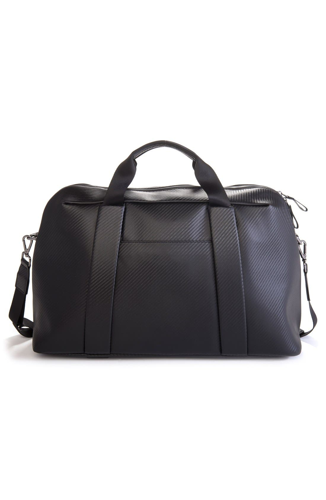 'Signature' Large Duffel Bag,                             Alternate thumbnail 5, color,                             CARBON BLACK