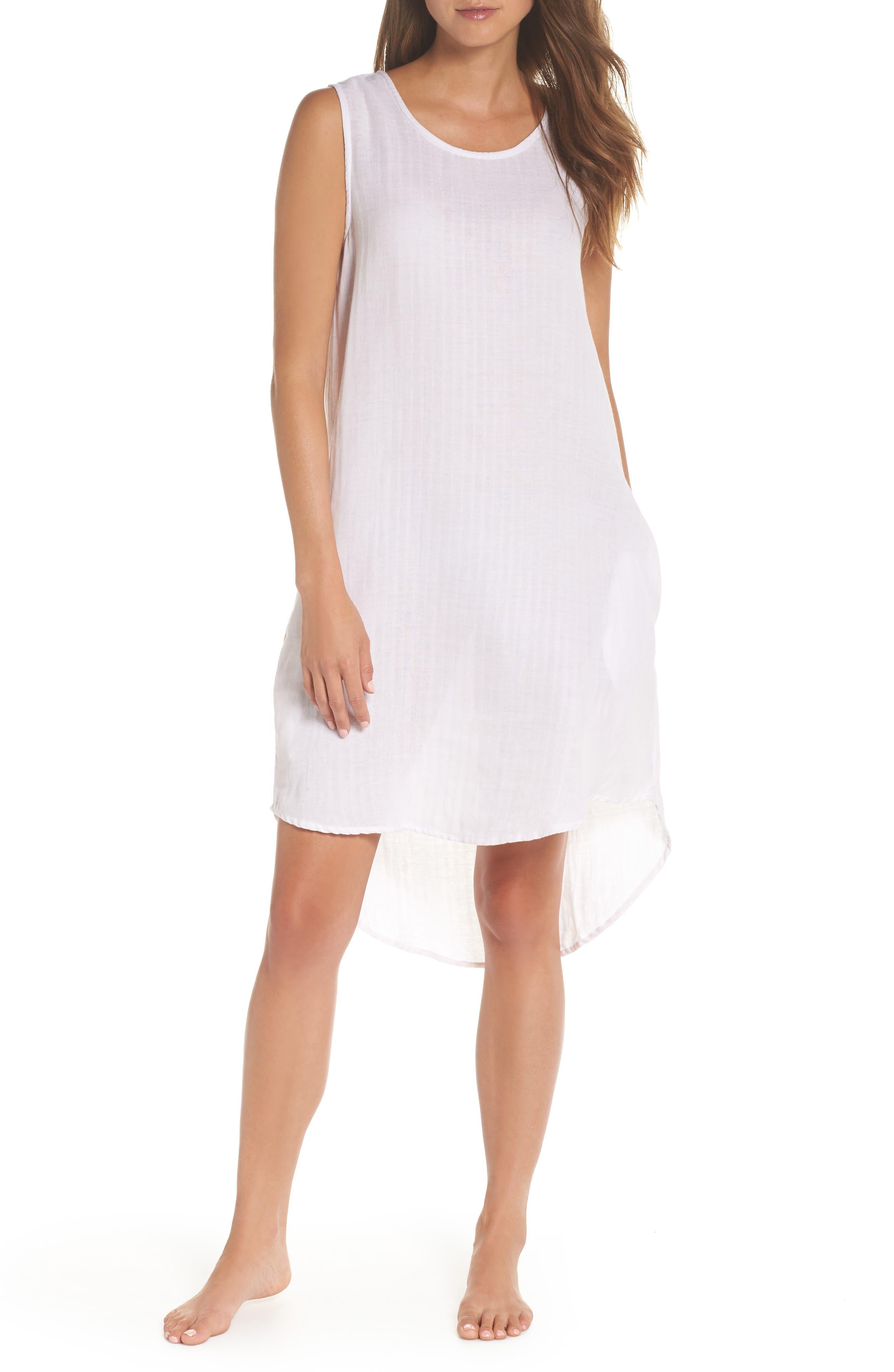 Basic Stripe Nightgown,                             Main thumbnail 1, color,                             110