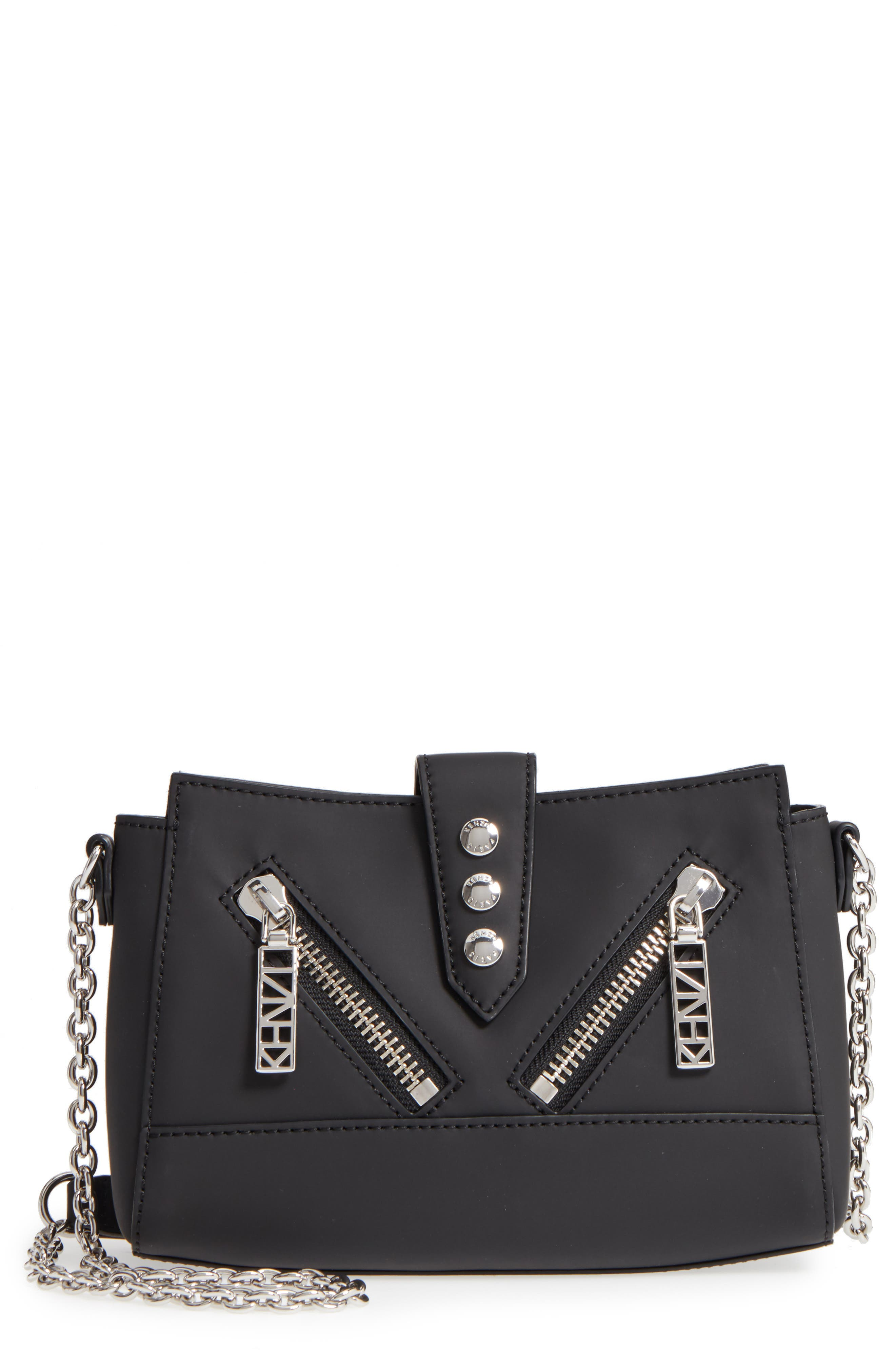 Mini Kalifornia Grommato Leather Shoulder Bag,                             Main thumbnail 1, color,                             001