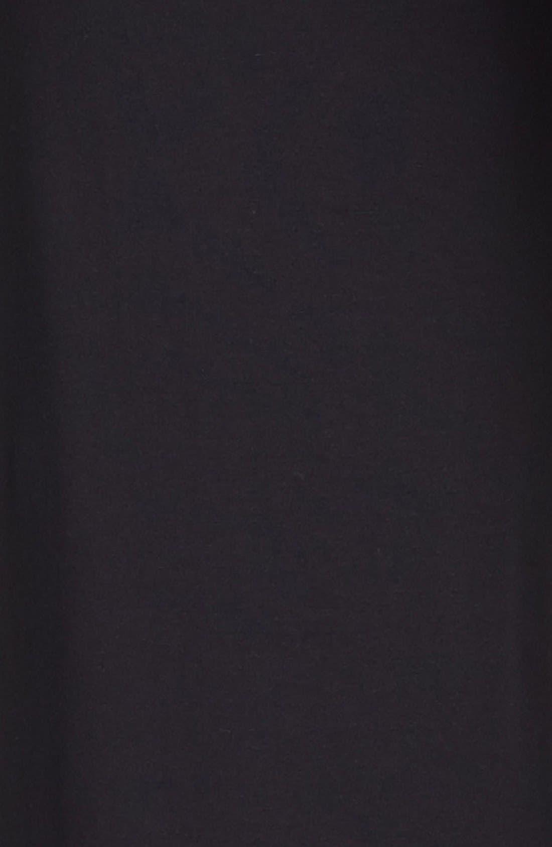 Knit Flare Leg Maternity Pants,                             Alternate thumbnail 6, color,                             BLACK