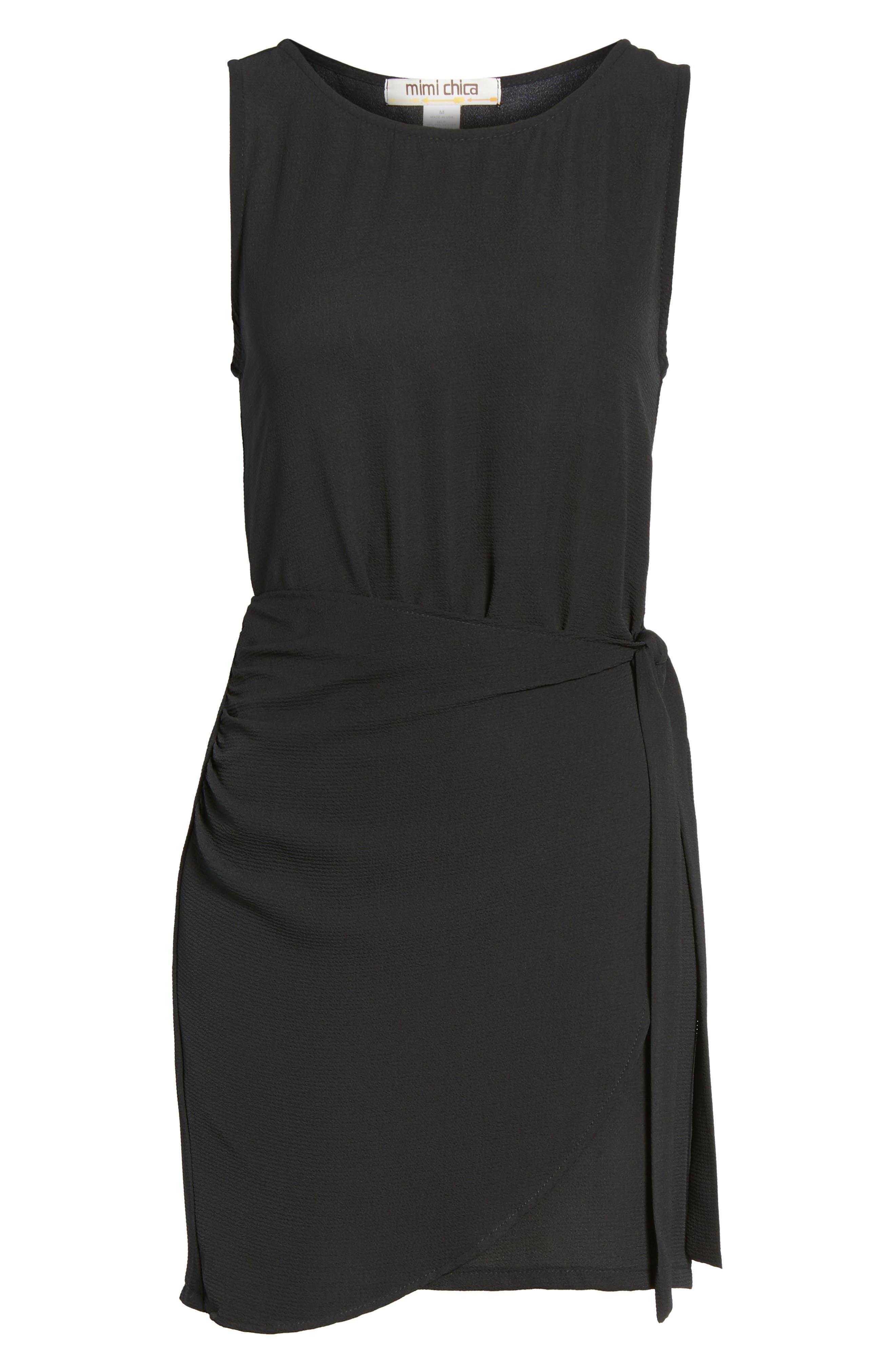 Wrap Skirt Dress,                             Alternate thumbnail 6, color,                             001