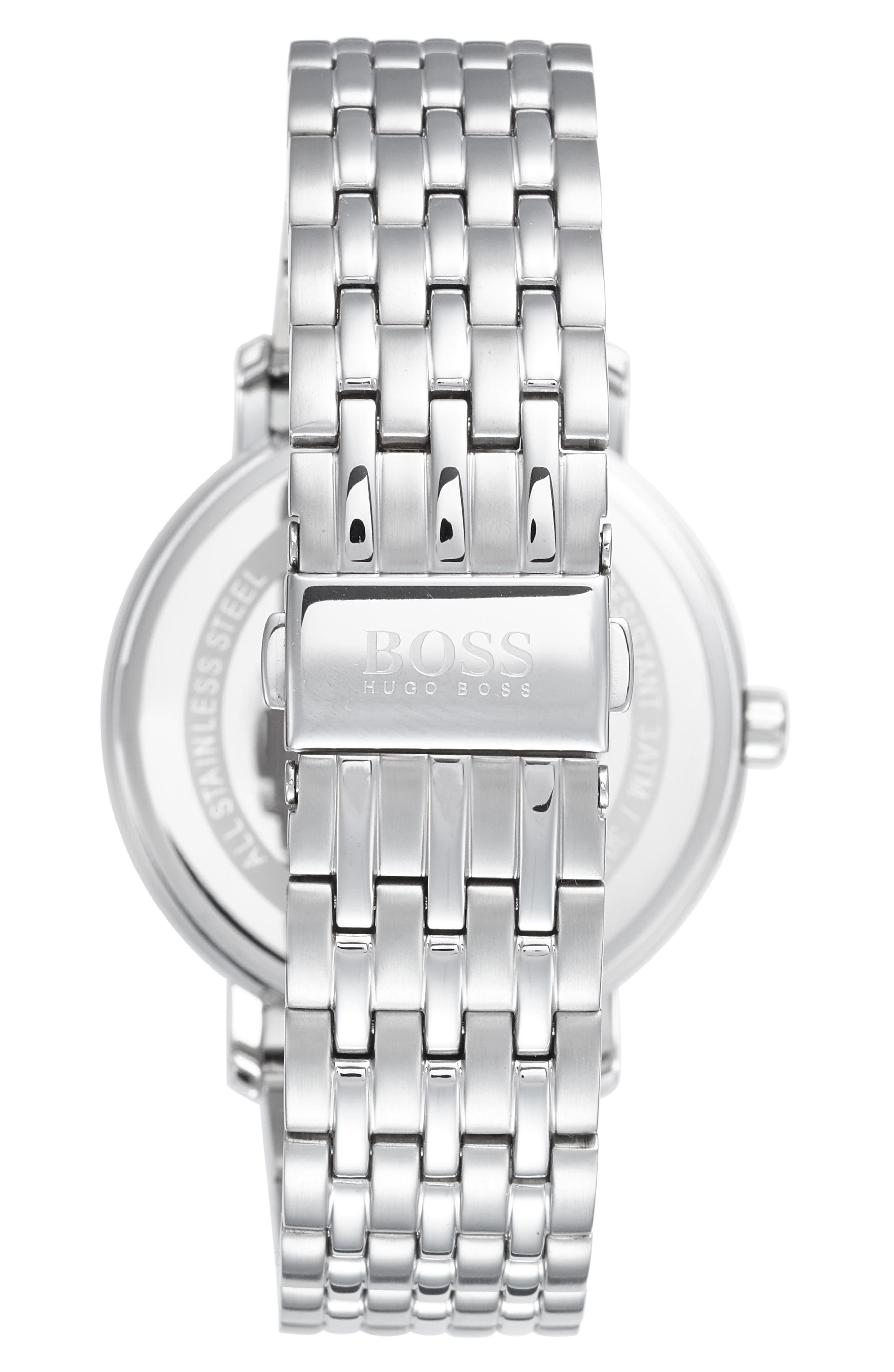 Round Bracelet Watch, 40mm,                             Alternate thumbnail 2, color,                             BLUE/ SILVER
