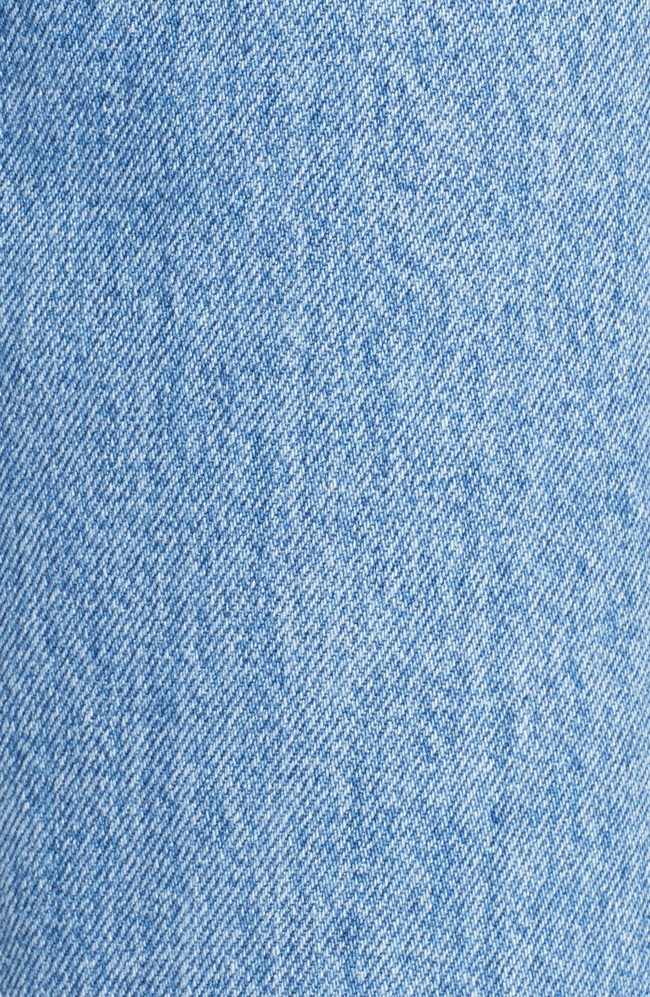 High Waist Crop Flare Jeans,                             Alternate thumbnail 6, color,                             491