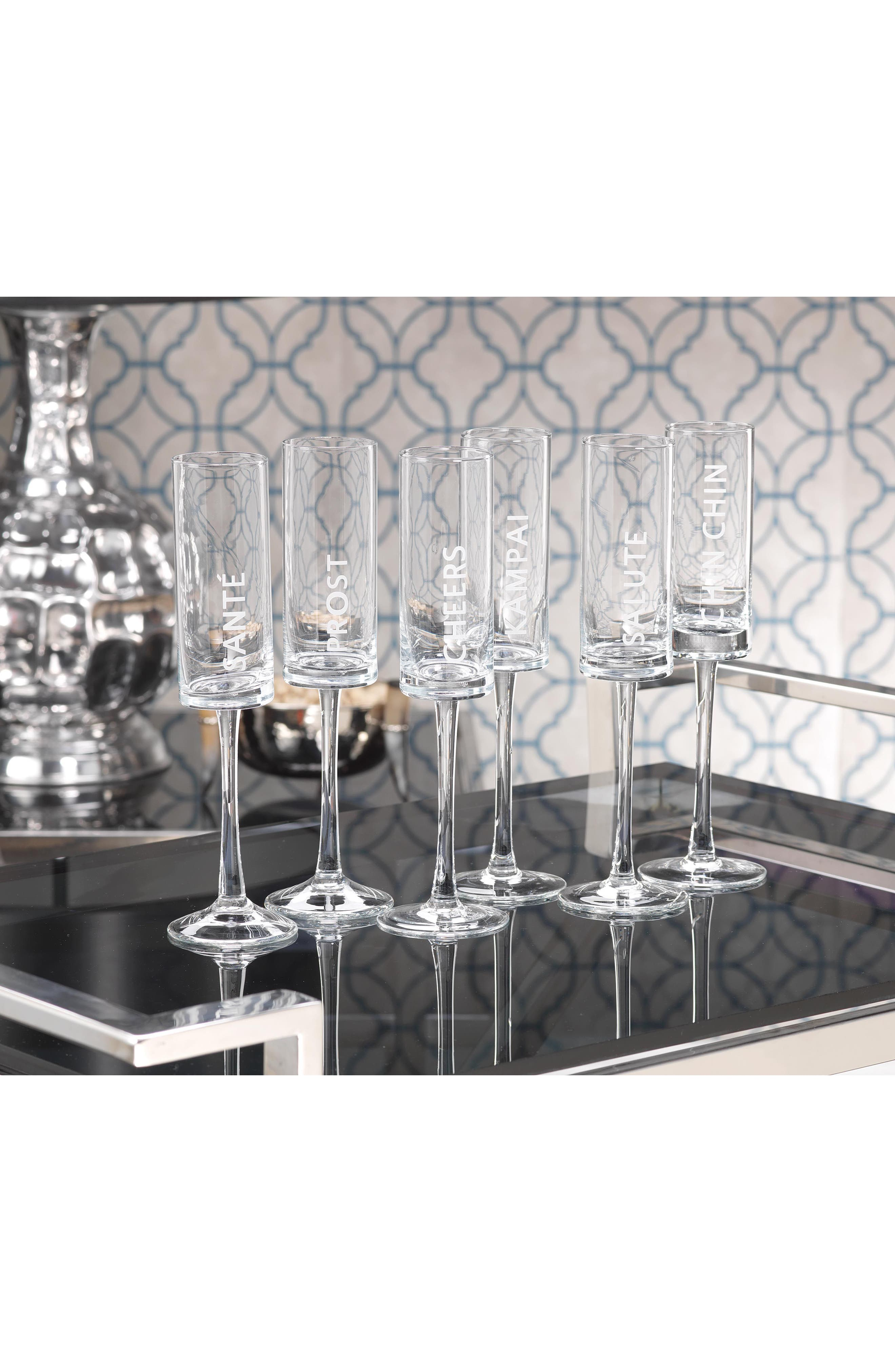 Toast Set of 6 Champagne Flutes,                             Alternate thumbnail 2, color,