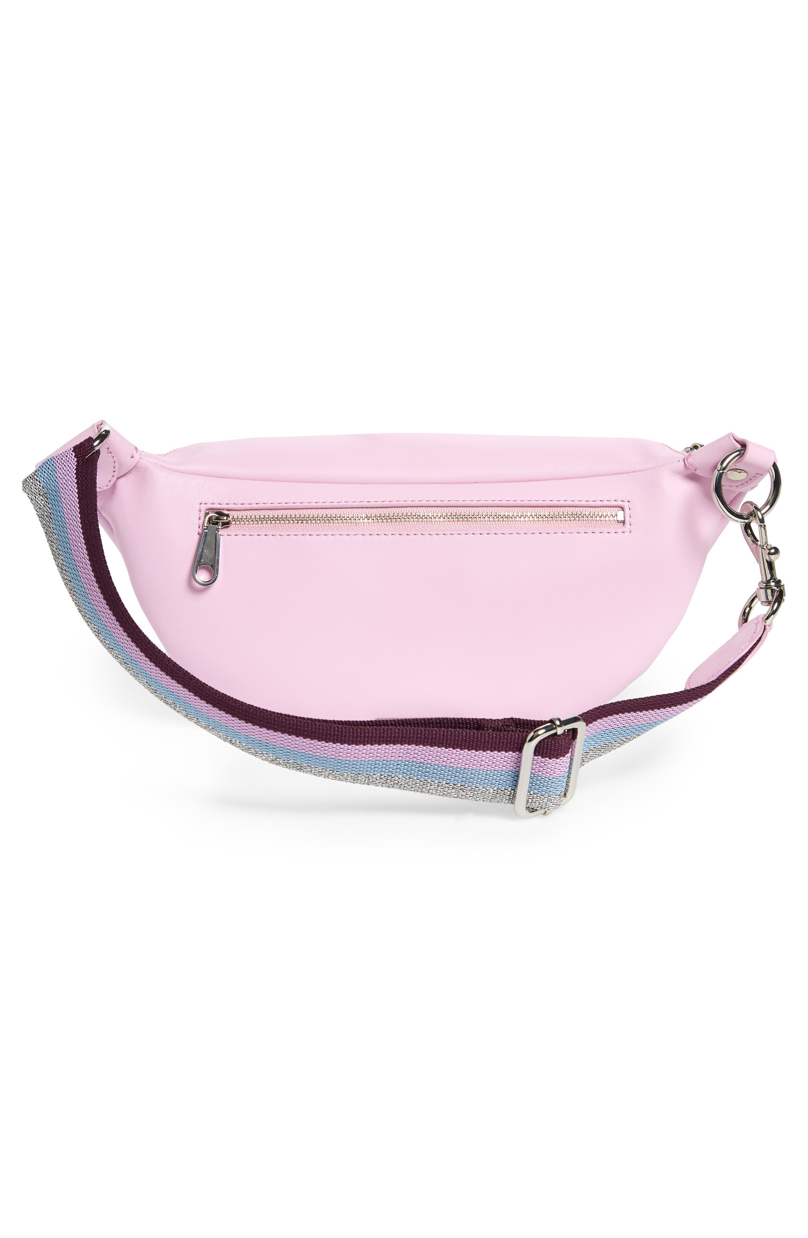 REBECCA MINKOFF,                             Bree - GRL PWR Leather Belt Bag,                             Alternate thumbnail 4, color,                             500