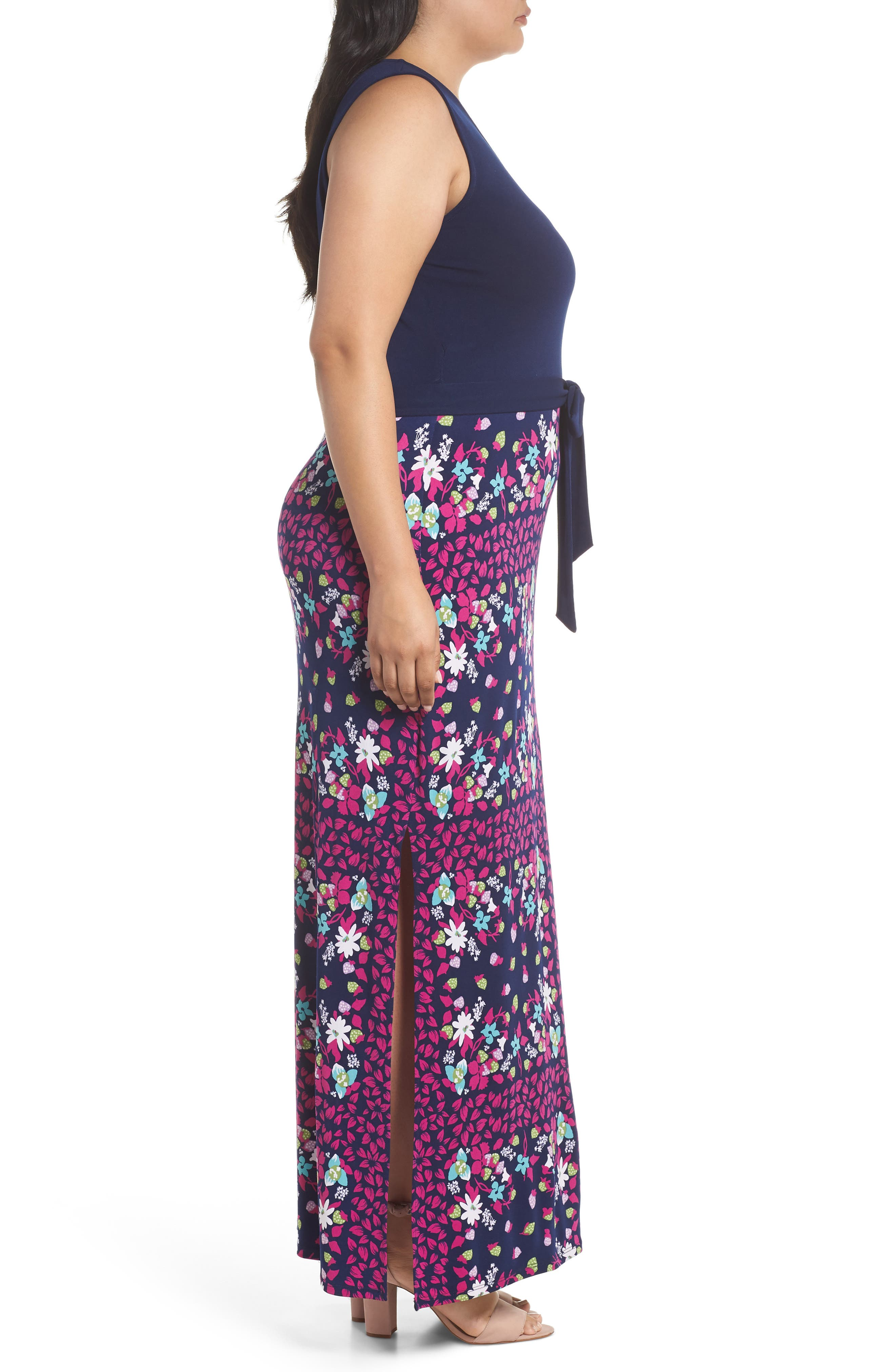 Perfect Faux Wrap Maxi Dress,                             Alternate thumbnail 3, color,                             410