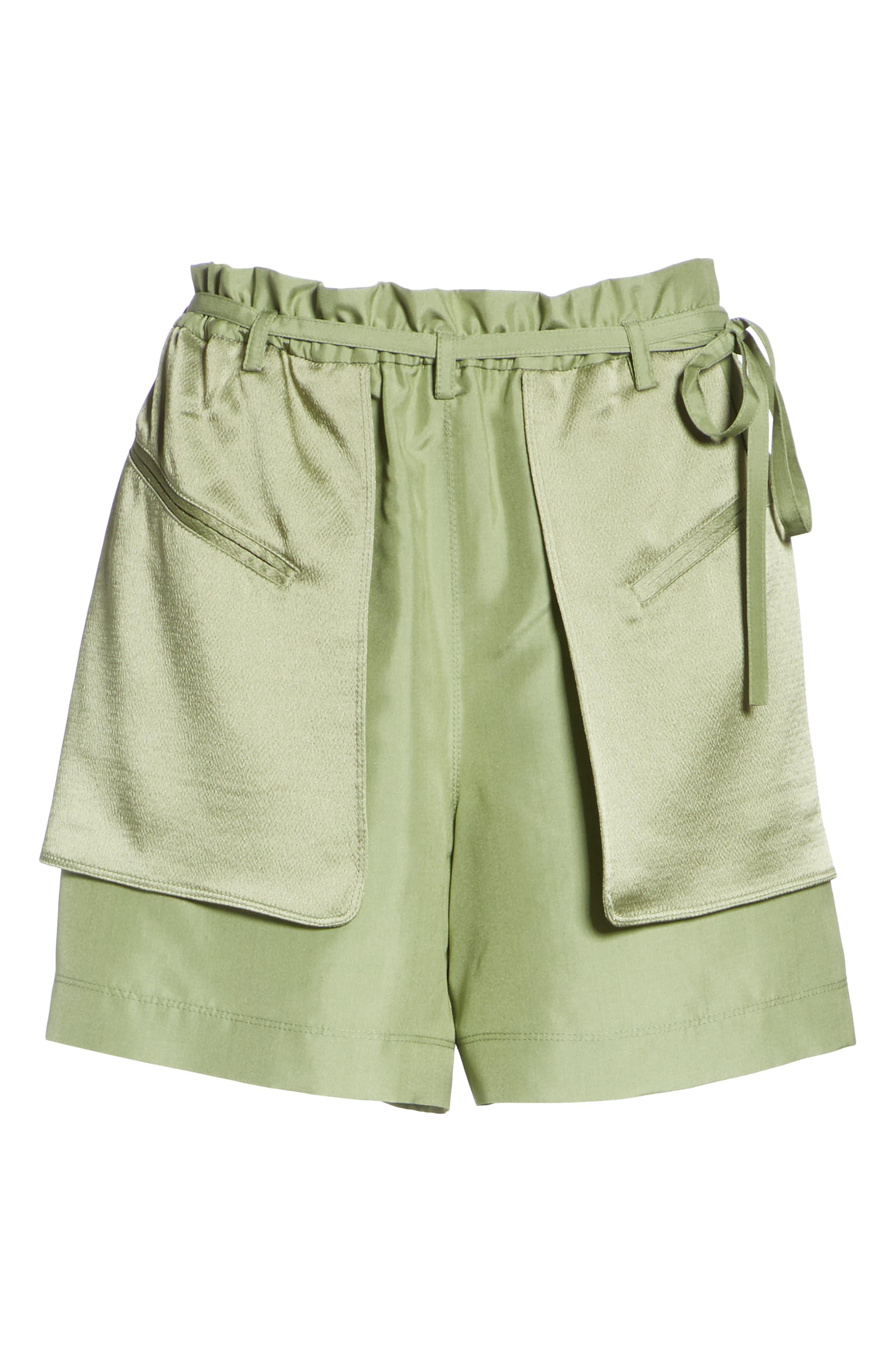 Satin Pocket Shorts,                             Alternate thumbnail 6, color,                             300